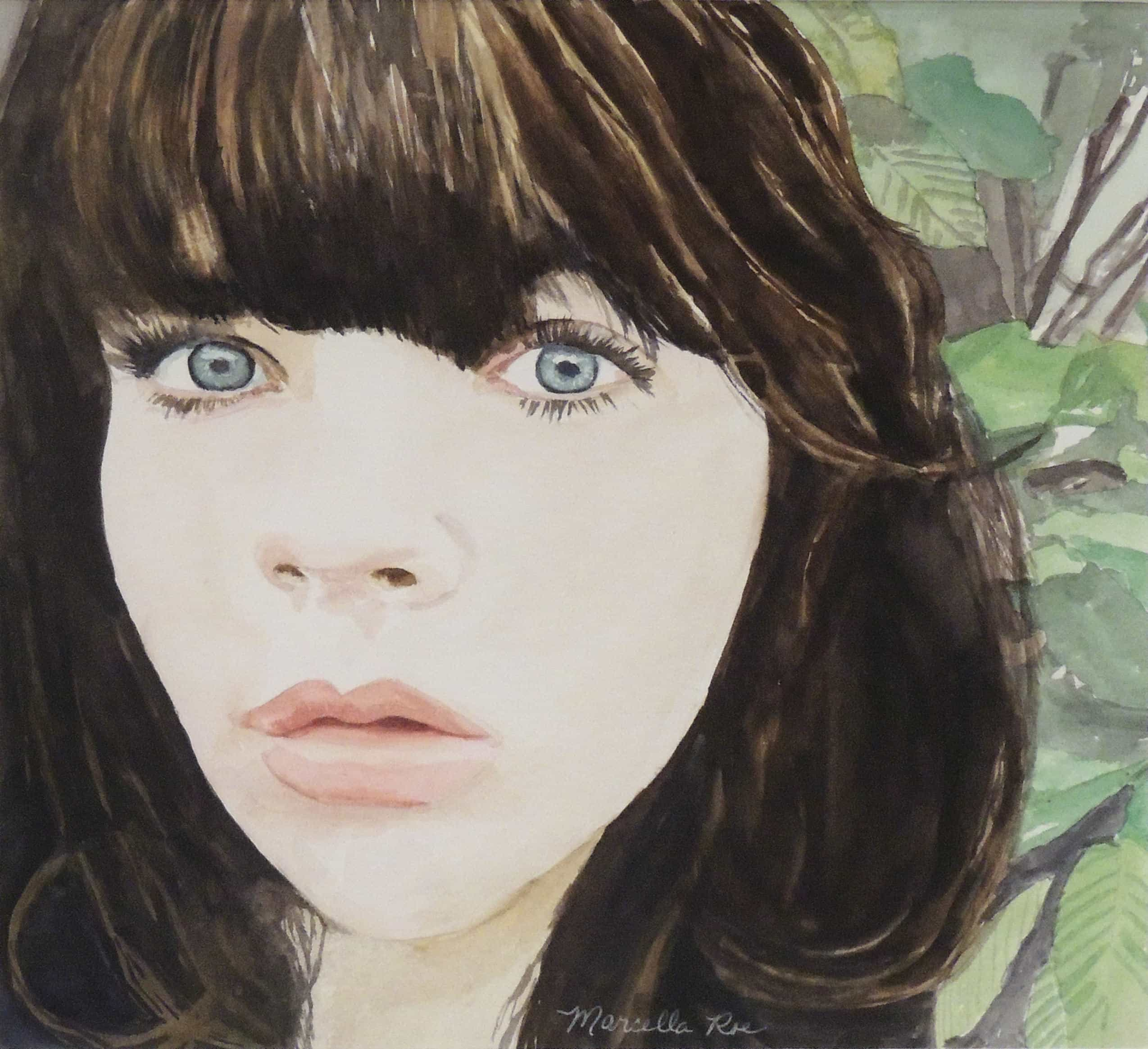 Marcella Roe | VIOLET | watercolor | 12 x 12""