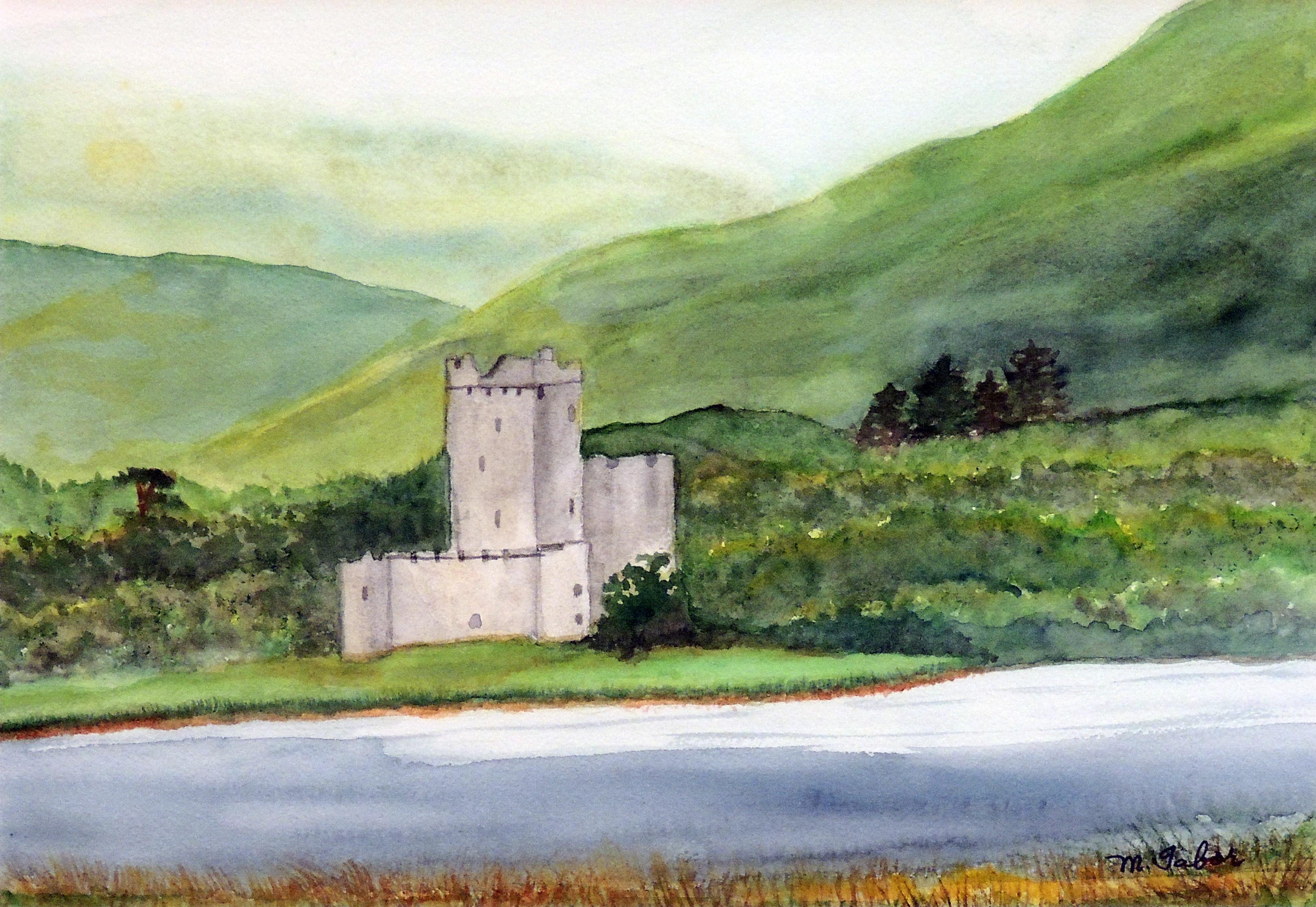 Margaret E. Tabor | ROSS CASTLE, IRELAND | Watercolor