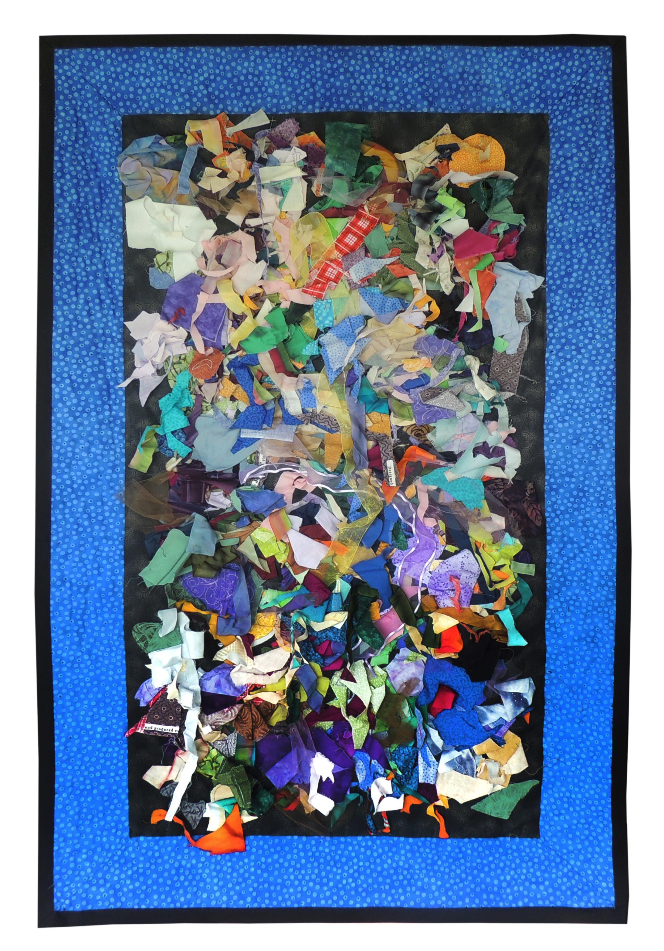 "Marianne Rabb Britton | JACKSON POLLOCK | Fabric & Embroidery | 51.5 x 32.5"" | Estate of Marianne Rabb Britton"