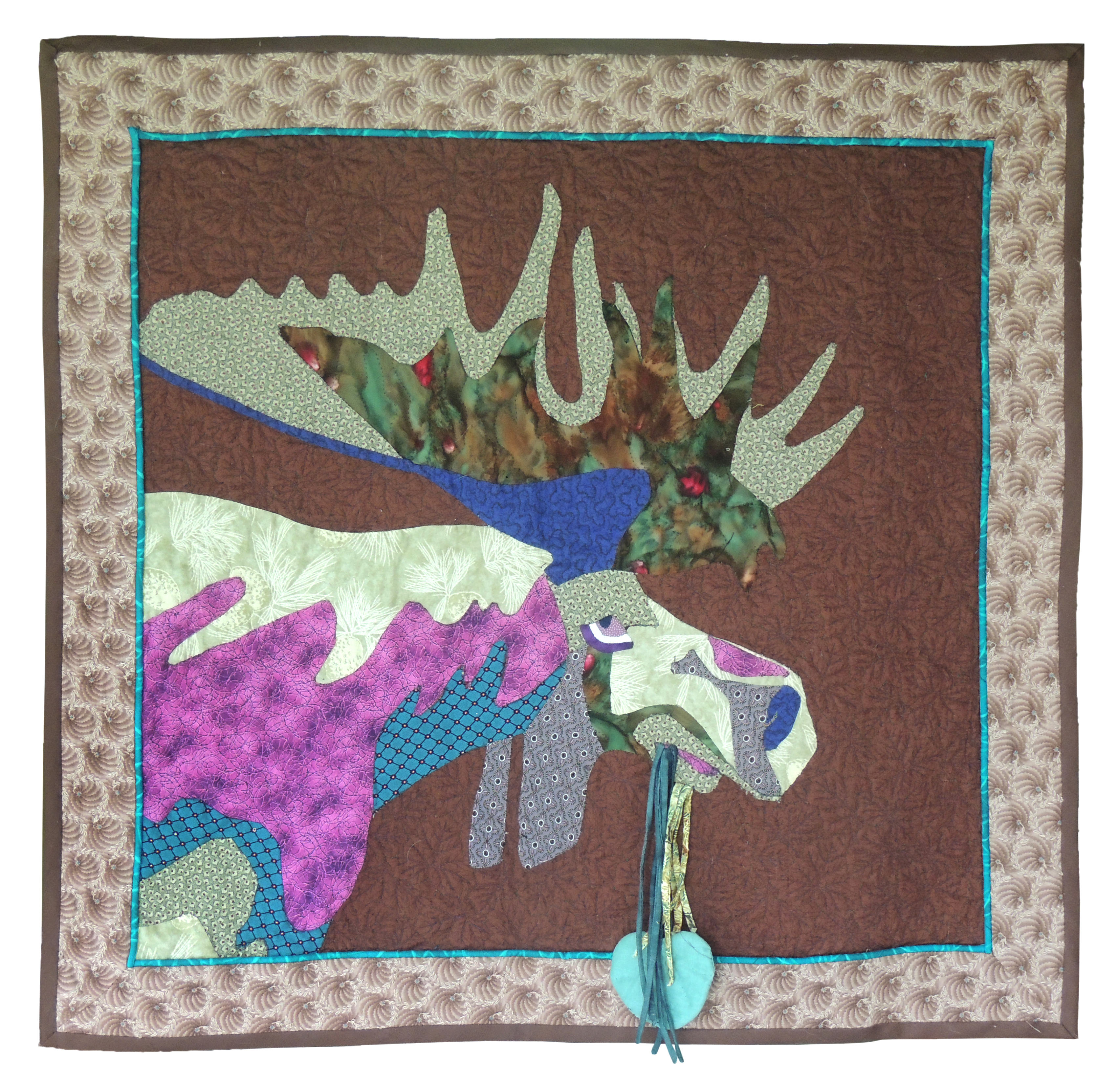 Marianne Rabb Britton | MOOSE | Fabric & Embroidery | 29 x 30"