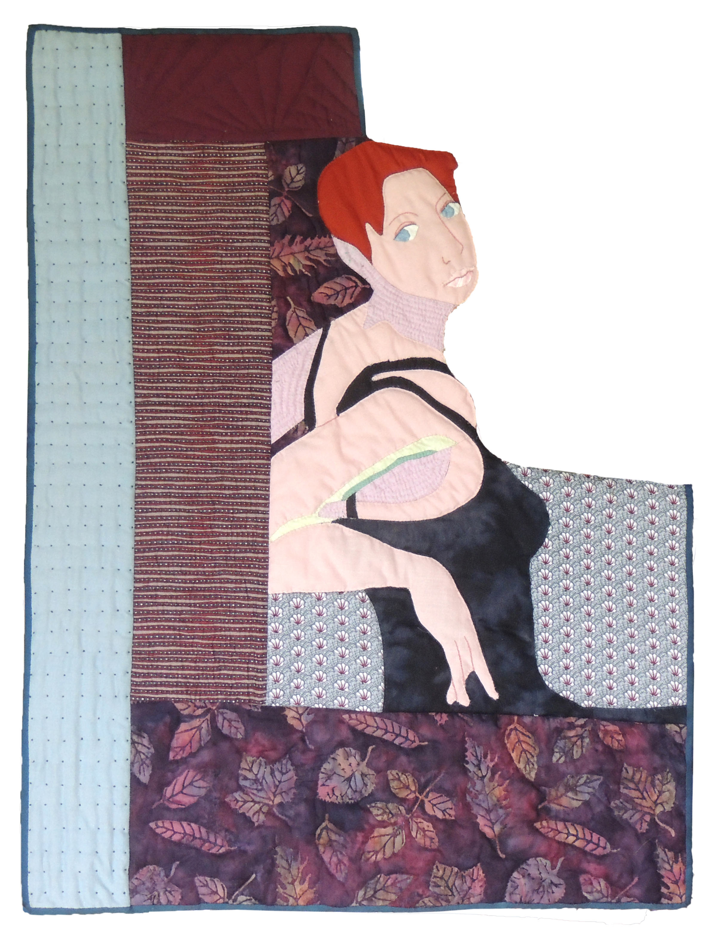 Marianne Rabb Britton | OVER SHOULDER | Fabric & Embroidery | 29 x 22"