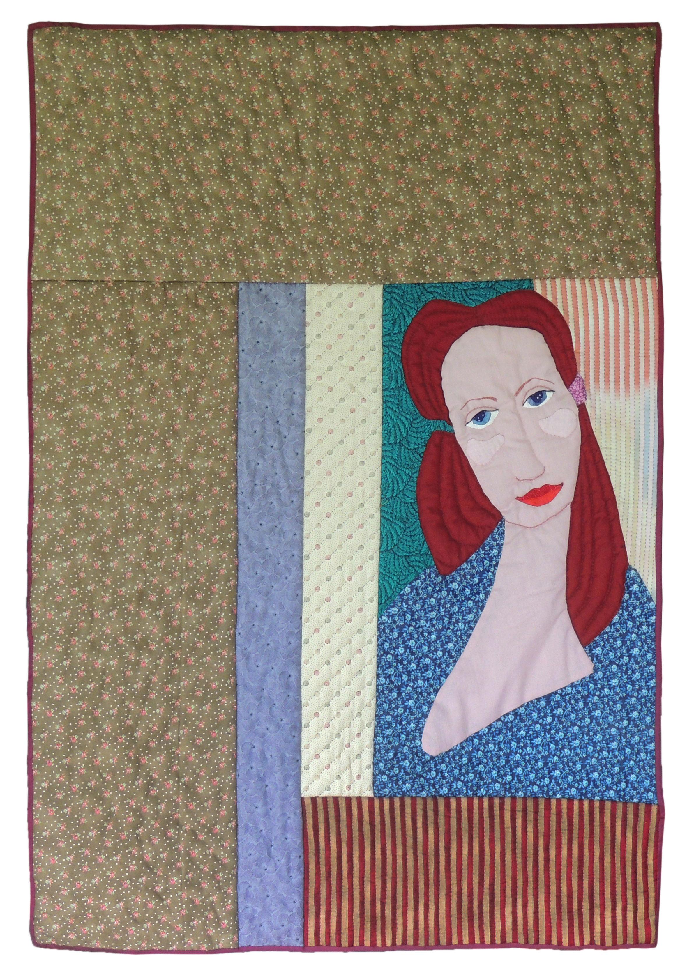 "Marianne Rabb Britton | PORTRAIT | Fabric & Embroidery | 38.5 x 27"" | Estate of Marianne Rabb Britton"