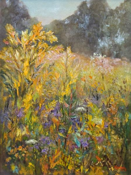 Martha O. Carmody | WHITEWATER PRAIRIE SUMMER EXPLOSION | oil | 24 x 18""