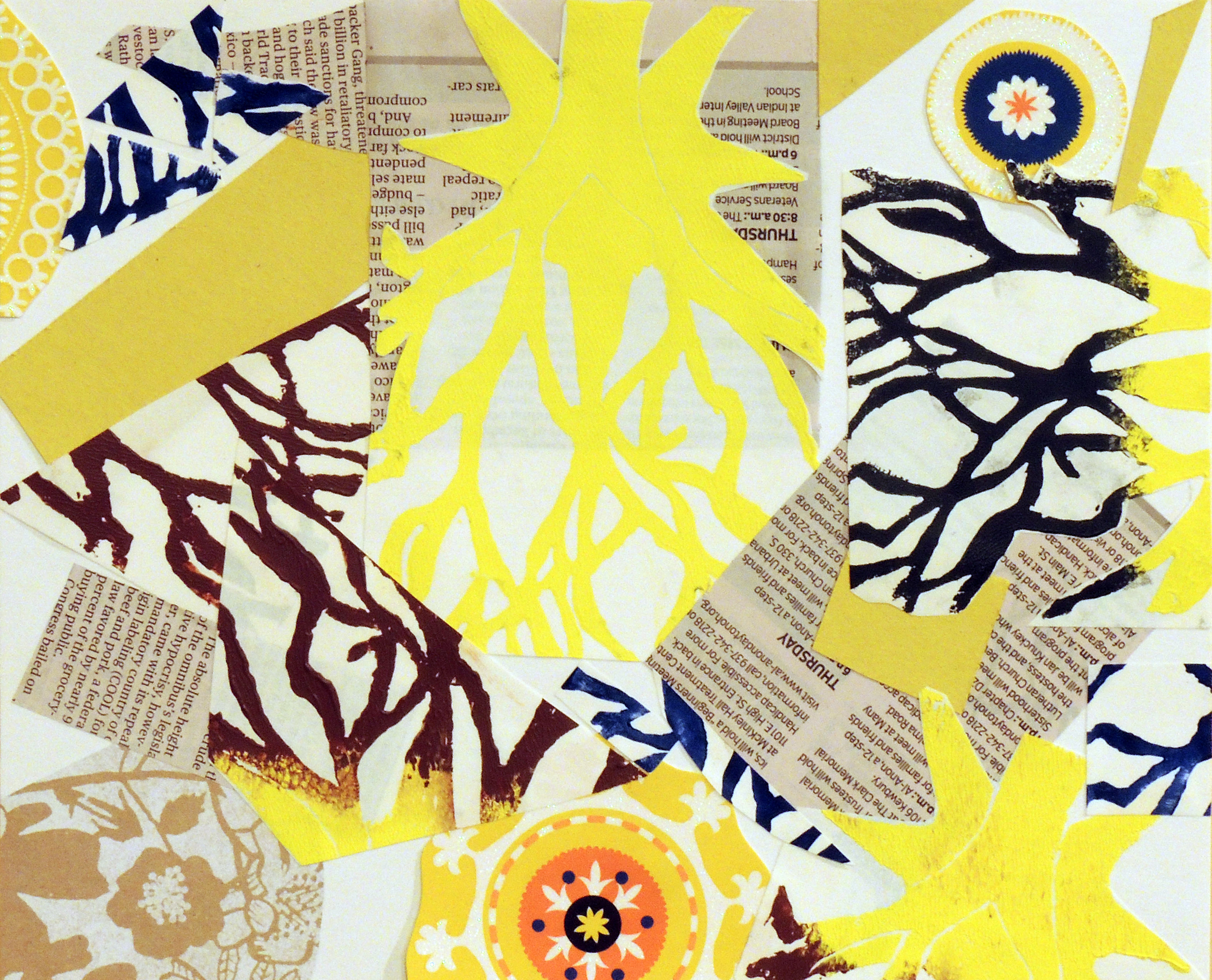 Molly Bline   BRANCHING   relief printmaking & collage   Shawnee High School