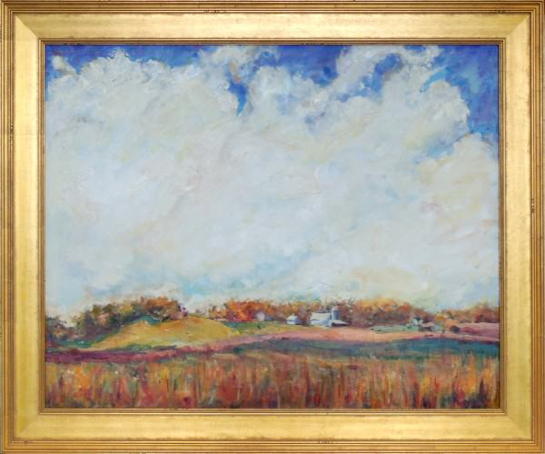 Nora Daniel | PRAIRIE AND CLOUDS | oil | 26 x 36""