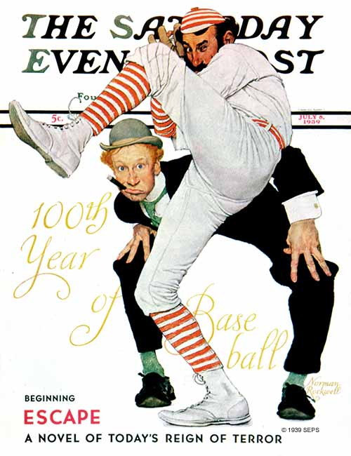 Norman Rockwell | 100 YEARS OF BASEBALL | July 8, 1939