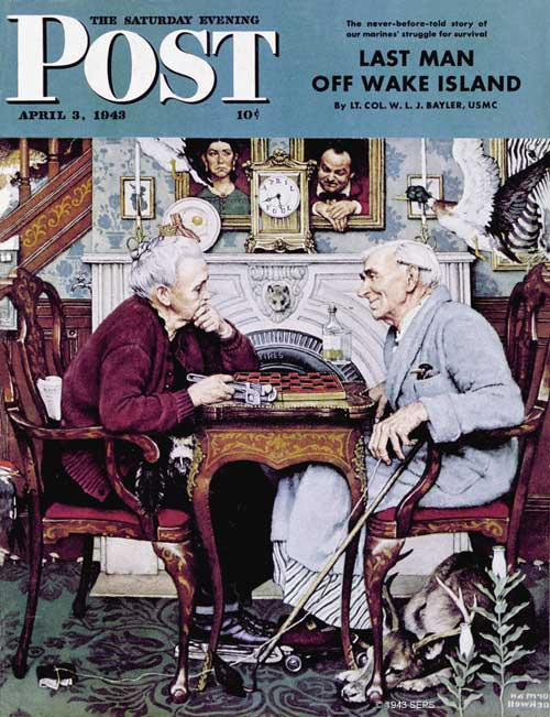 Norman Rockwell | APRIL FOOLS CHECKERS | April 3, 1943