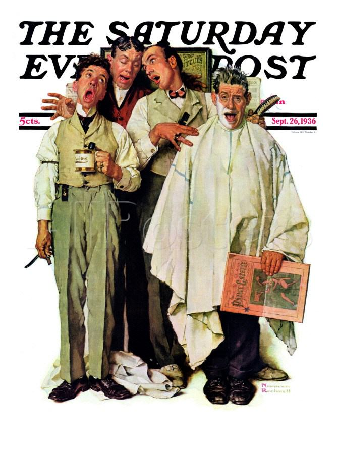 Norman Rockwell | BARBERSHOP QUARTET | September 26, 1936
