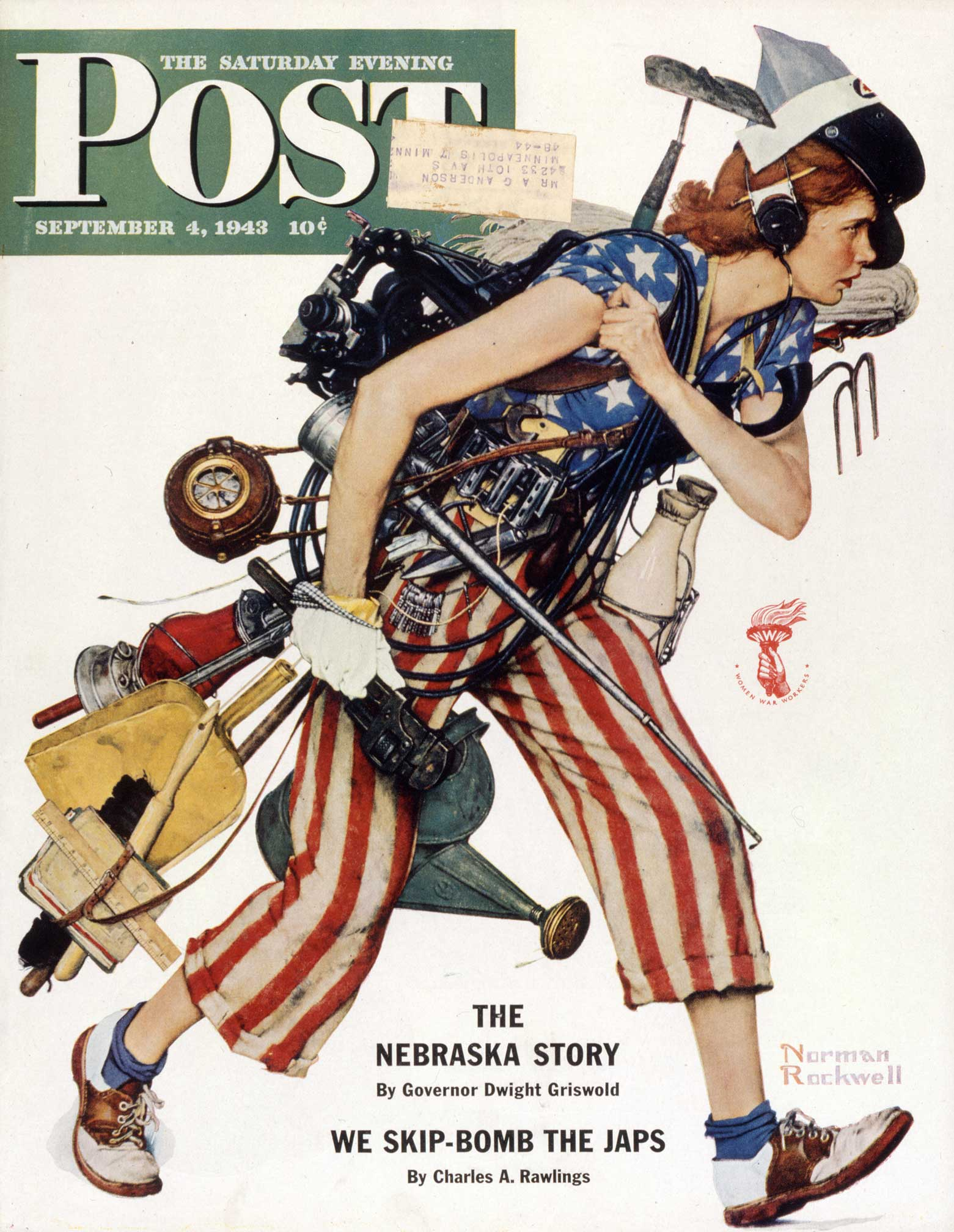Norman Rockwell | LIBERTY GIRL | September 4, 1943