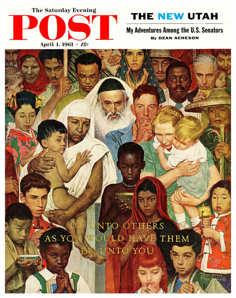 Norman rockwell the man behind the canvas springfield for Golden rule painting