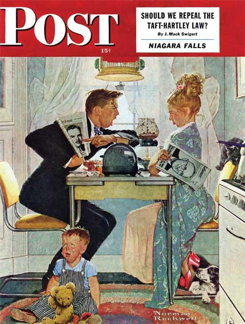 Norman Rockwell   THE GREAT DEBATE   October 30, 1948