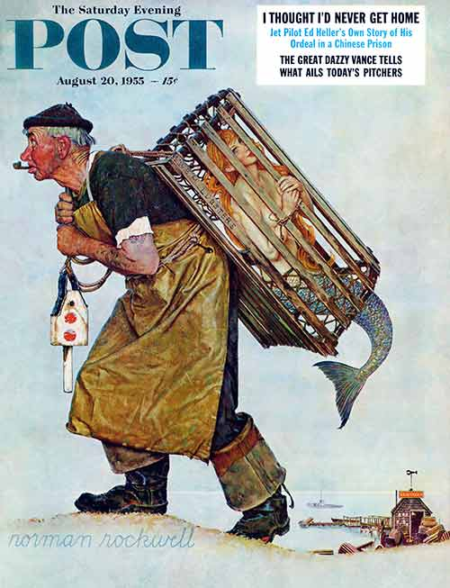 Norman Rockwell | UNEXPECTED CATCH | August 20, 1955
