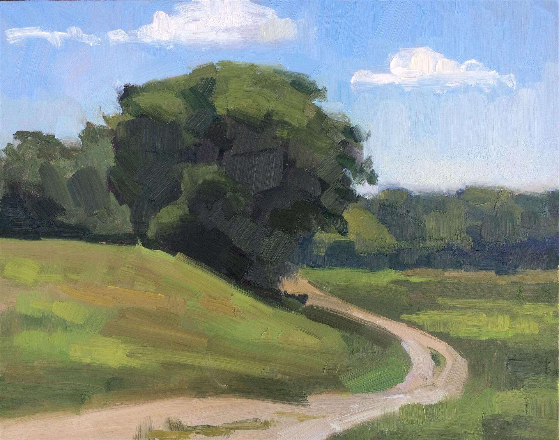 Ann Grimaldi | SUMMER HILLSIDE | oil | frame size 16x18