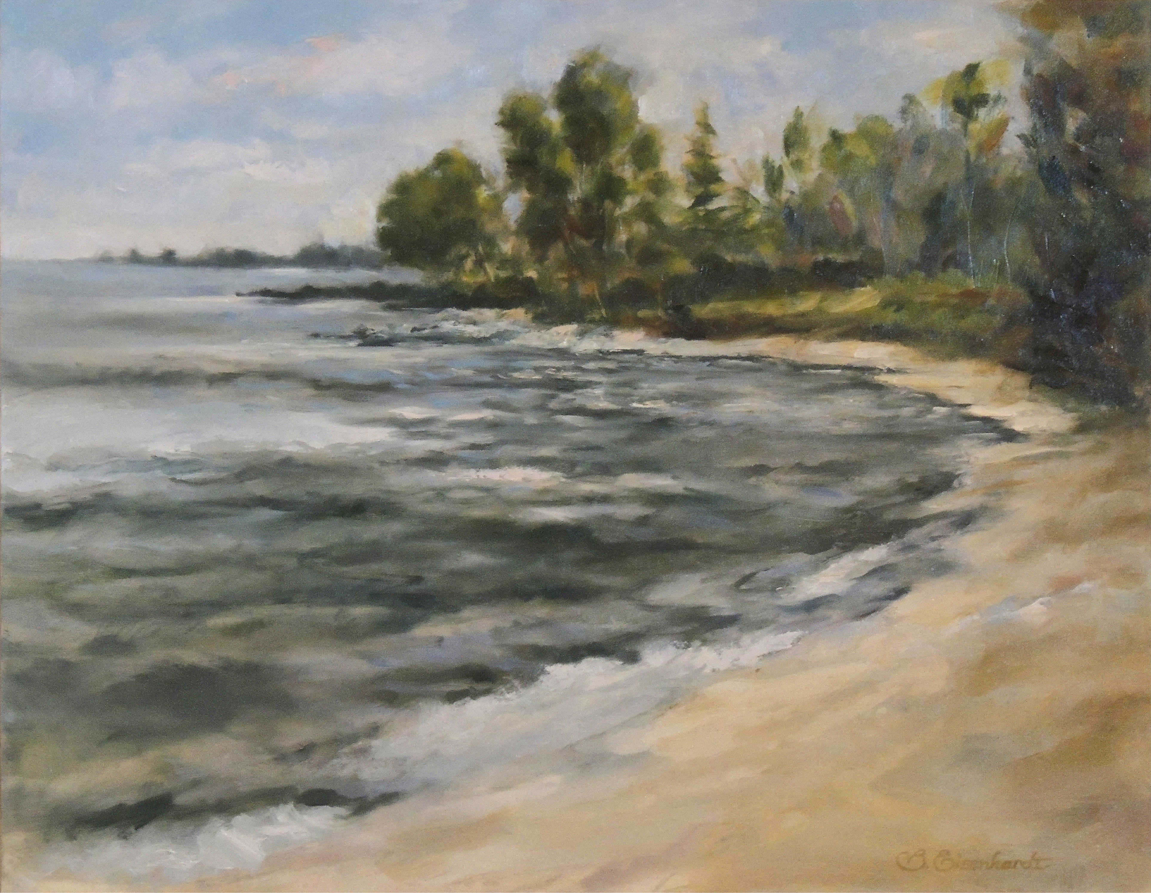 Barbara Eisenhardt | BEACH AT SHEROD PARK | oil | frame size 20x24