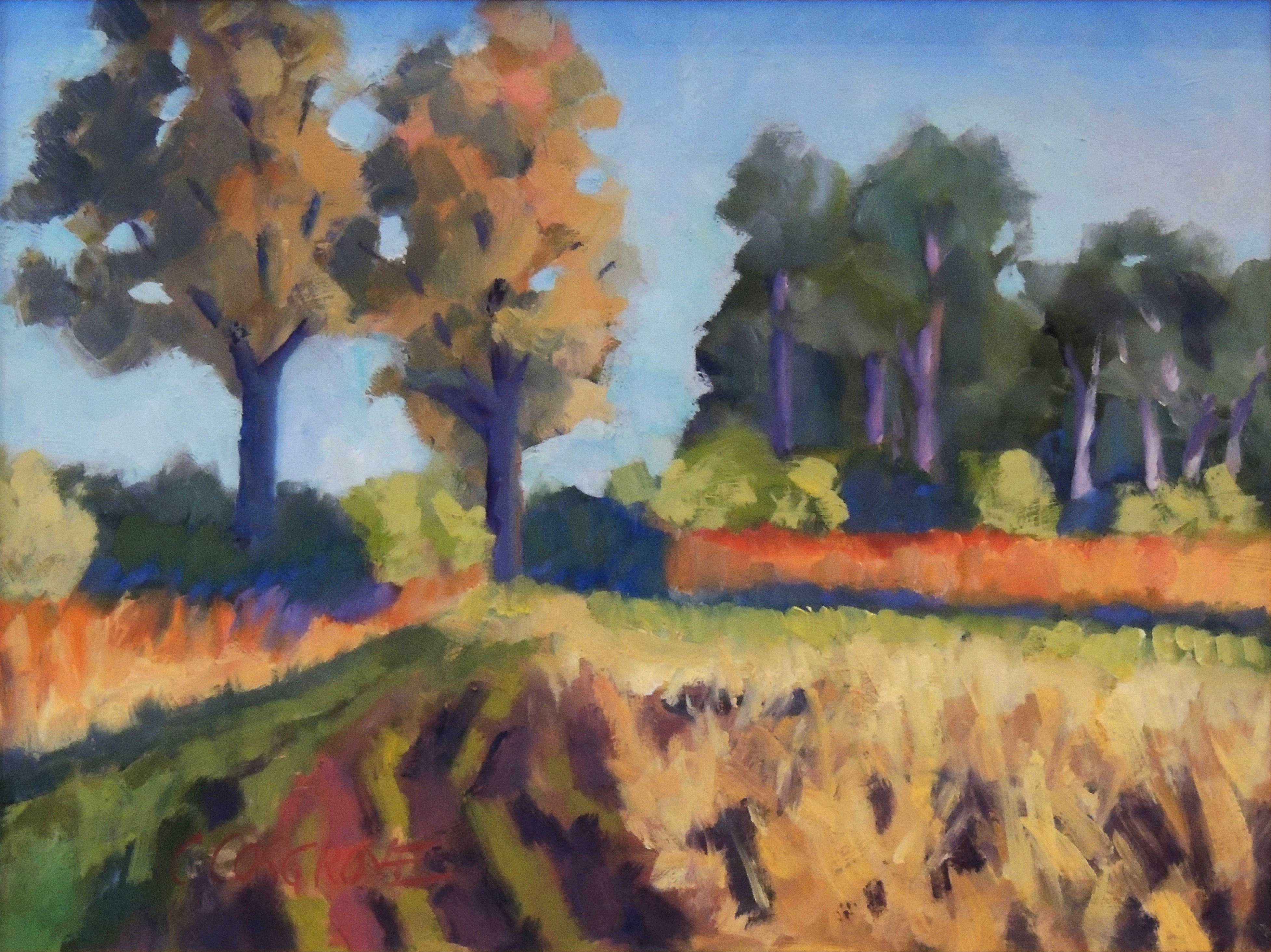 Carol Cosgrove | GOLDEN FIELDS | oil | frame size 15x18