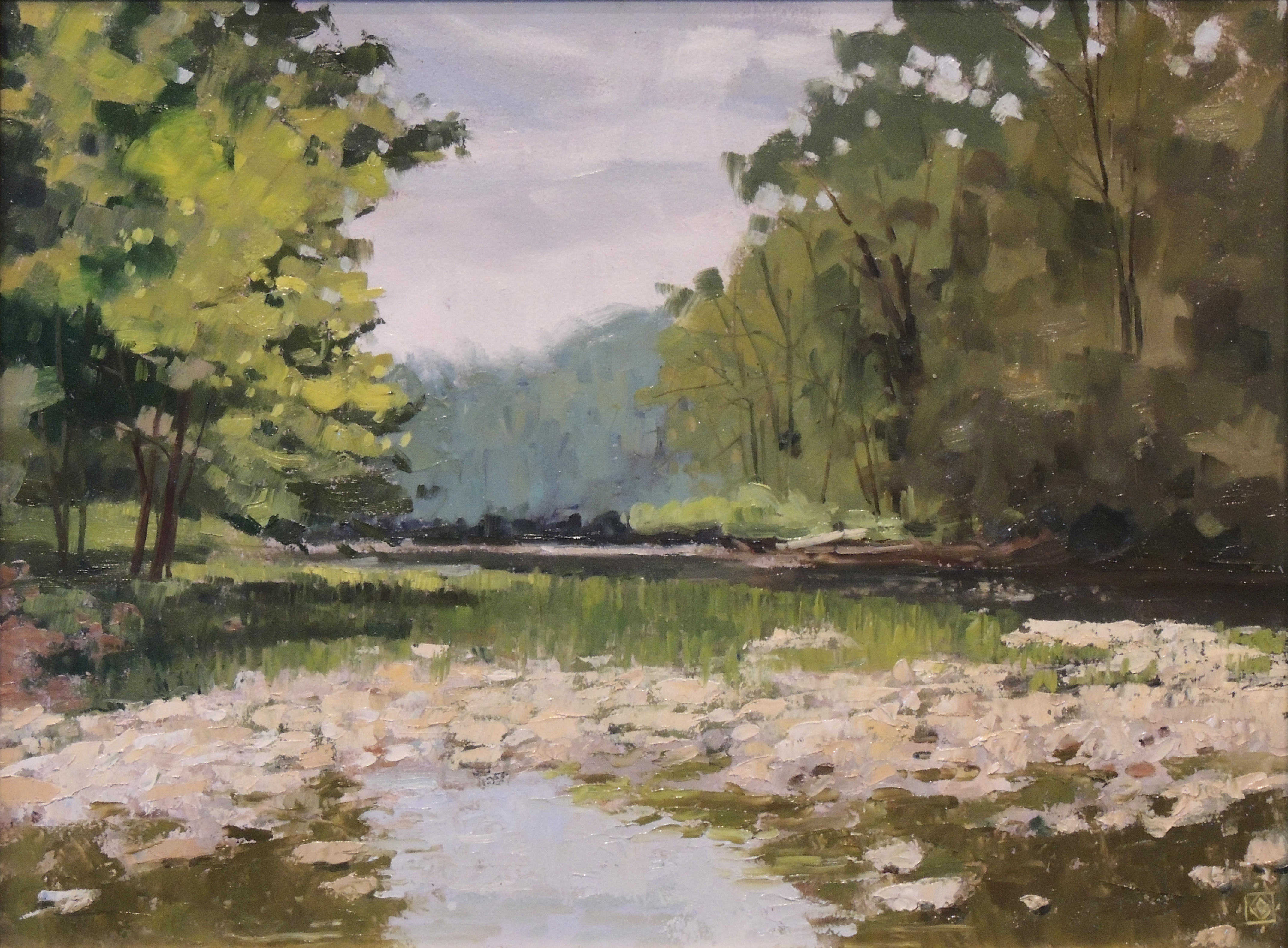 Carol Granger | RUSH RUN PARKLAND | oil | frame size 18x22