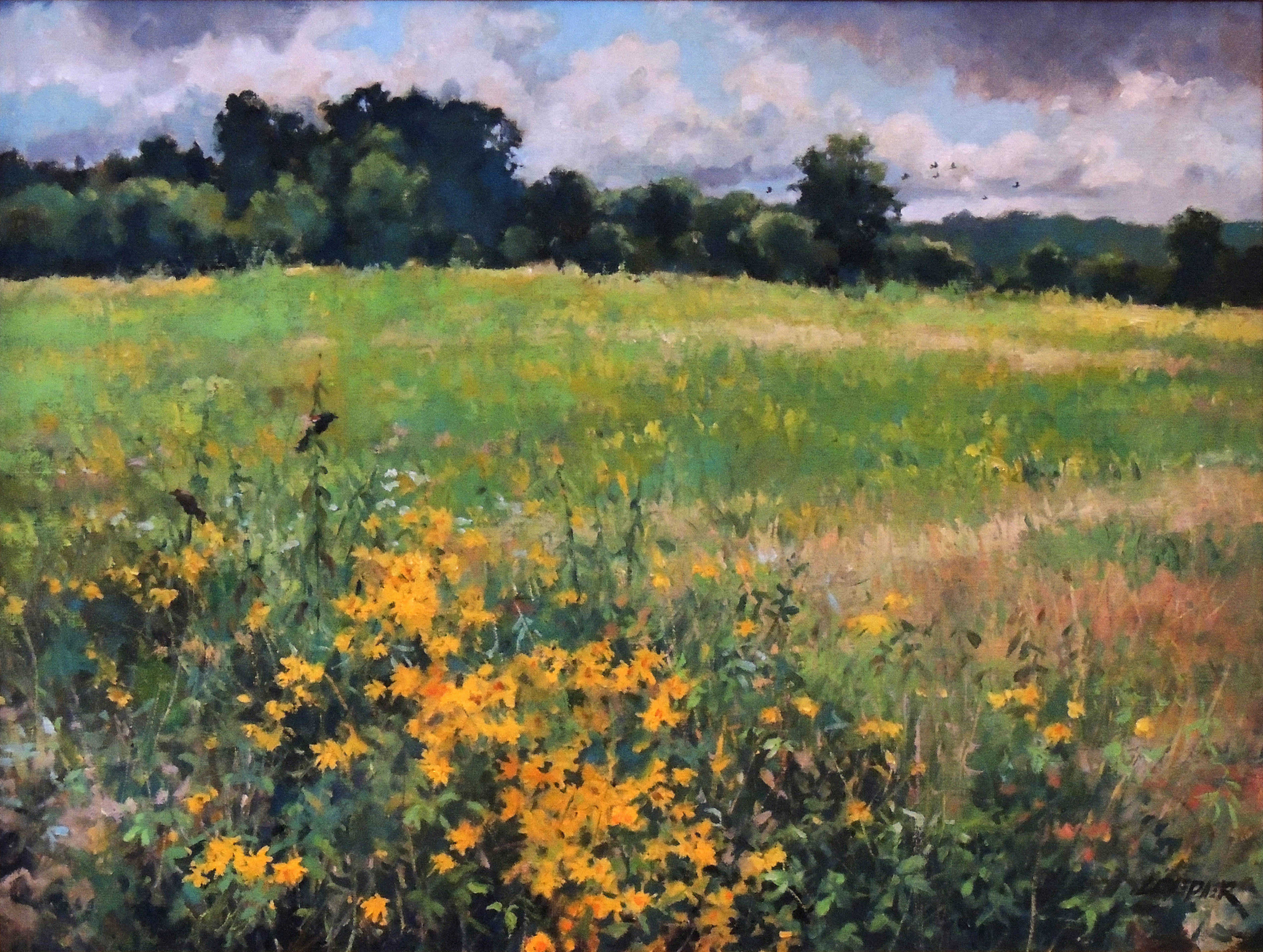 Christopher Leeper | SEPTEMBER FIELDS | oil | frame size 26x32