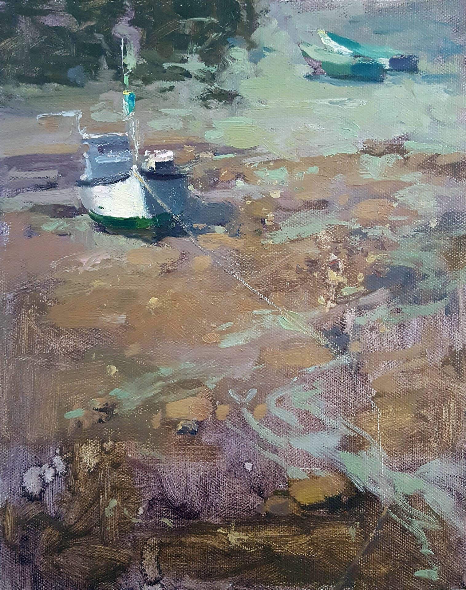 Debra Joyce Dawson | LOW TIDE, ACADIA | oil | frame size 15x13