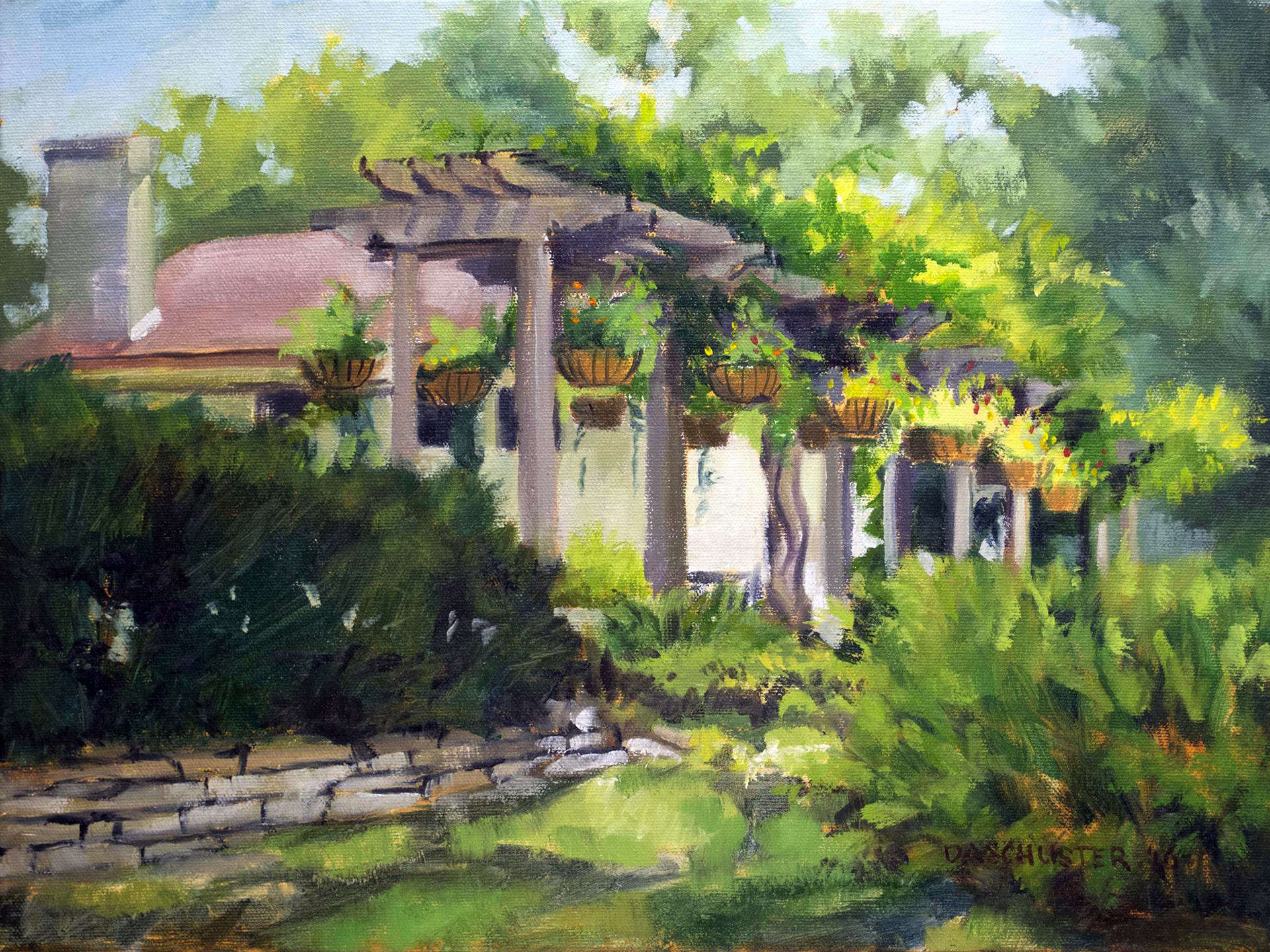 Donald Schuster | MOUNT AIRY PERGOLA | oil | 12x16