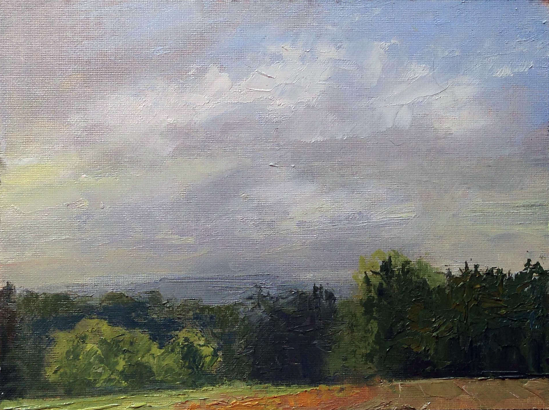 Eileen O'Connor | THE OTHER SIDE OF THE VALLEY | oil | frame size 8x10