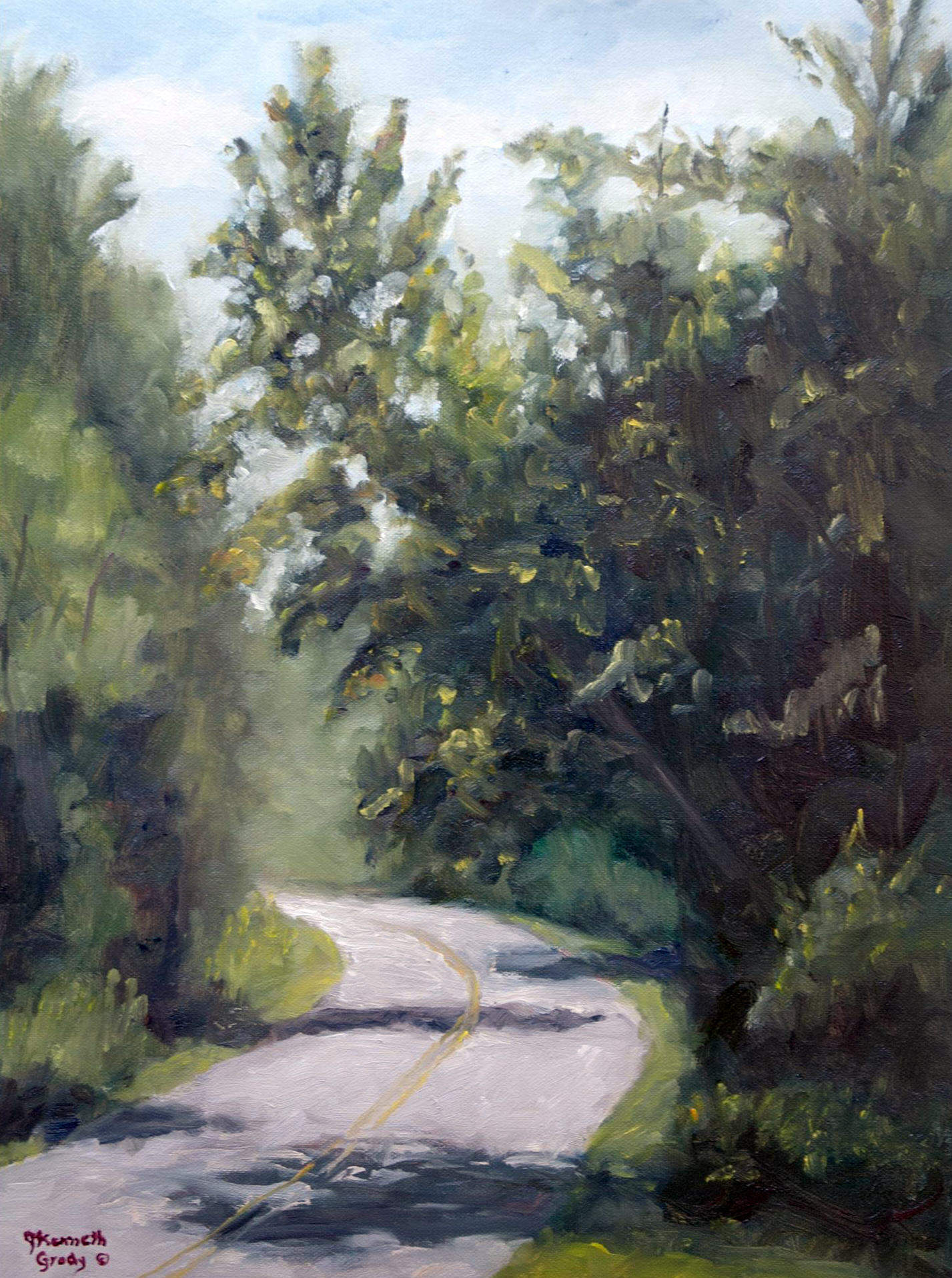 James Grody | CAESARS CREEK TRAIL | oil on mounted canvas | 11x16