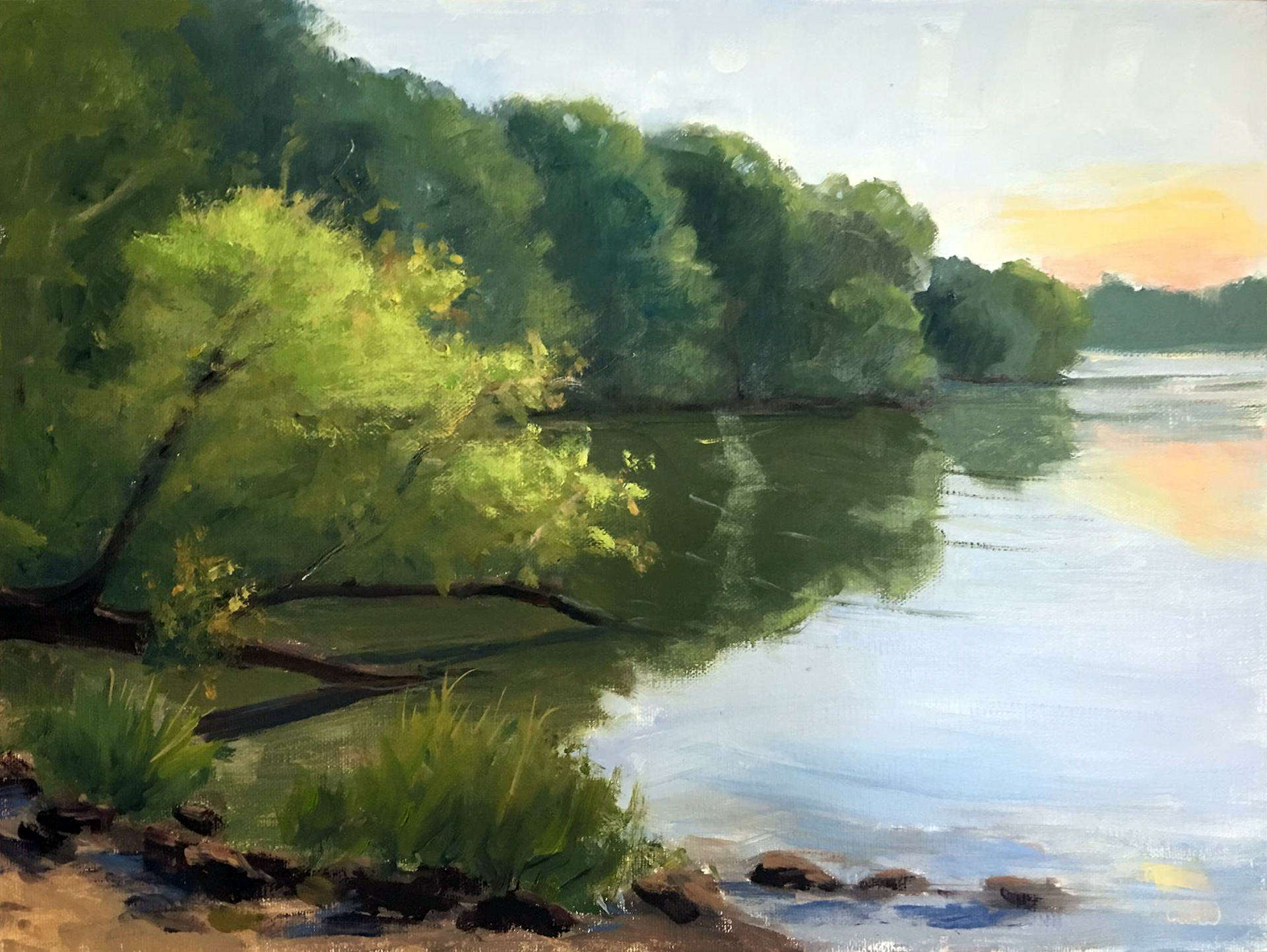 Jody Crow | WINGFOOT LAKE | oil on linen