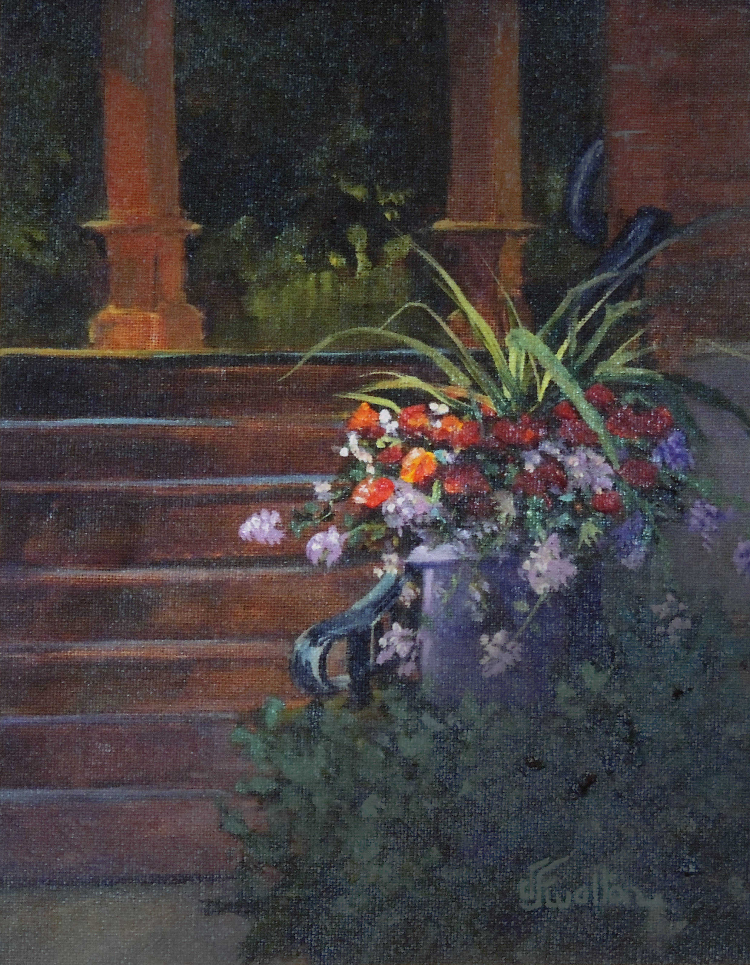 Judy Walton | RUTHERFORD B. HAYES CENTER SUMMER BLOOMS | oil | frame size 12x14