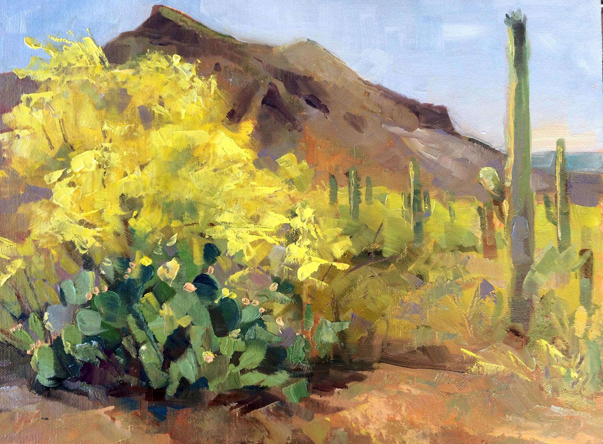 Kathleen Gray Farthing | DESERT SPRING |  oil | frame size 14x17