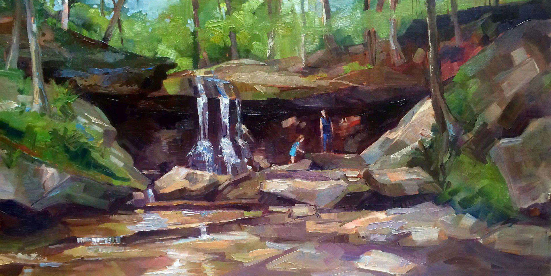 Kathleen Gray Farthing | JUNE MORNING AT BLUE HEN FALLS | oil | frame size 17x29