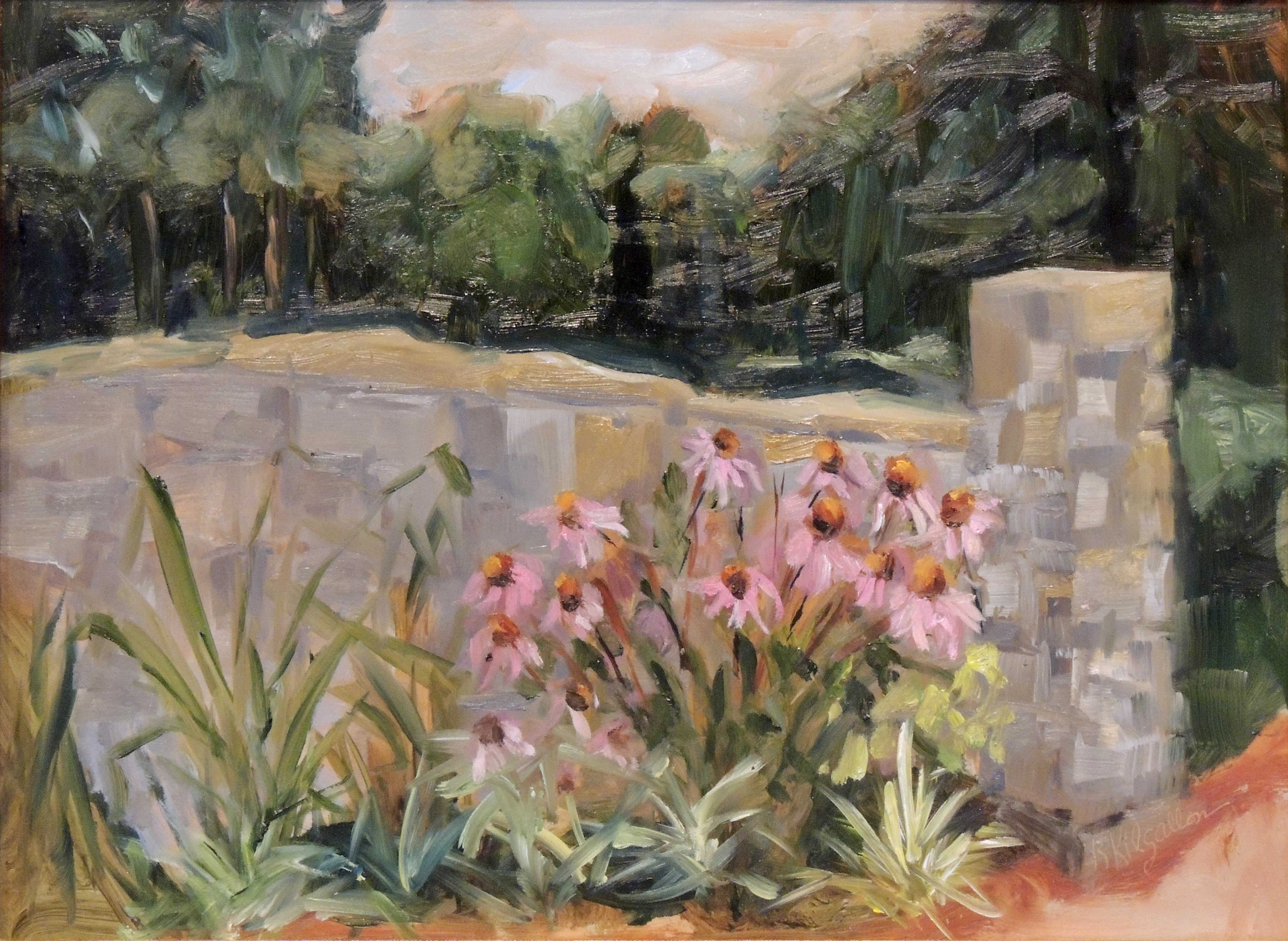 Kathleen Kilgallon | WALLED GARDEN AT PYRAMID HILL | oil | frame size 17x20