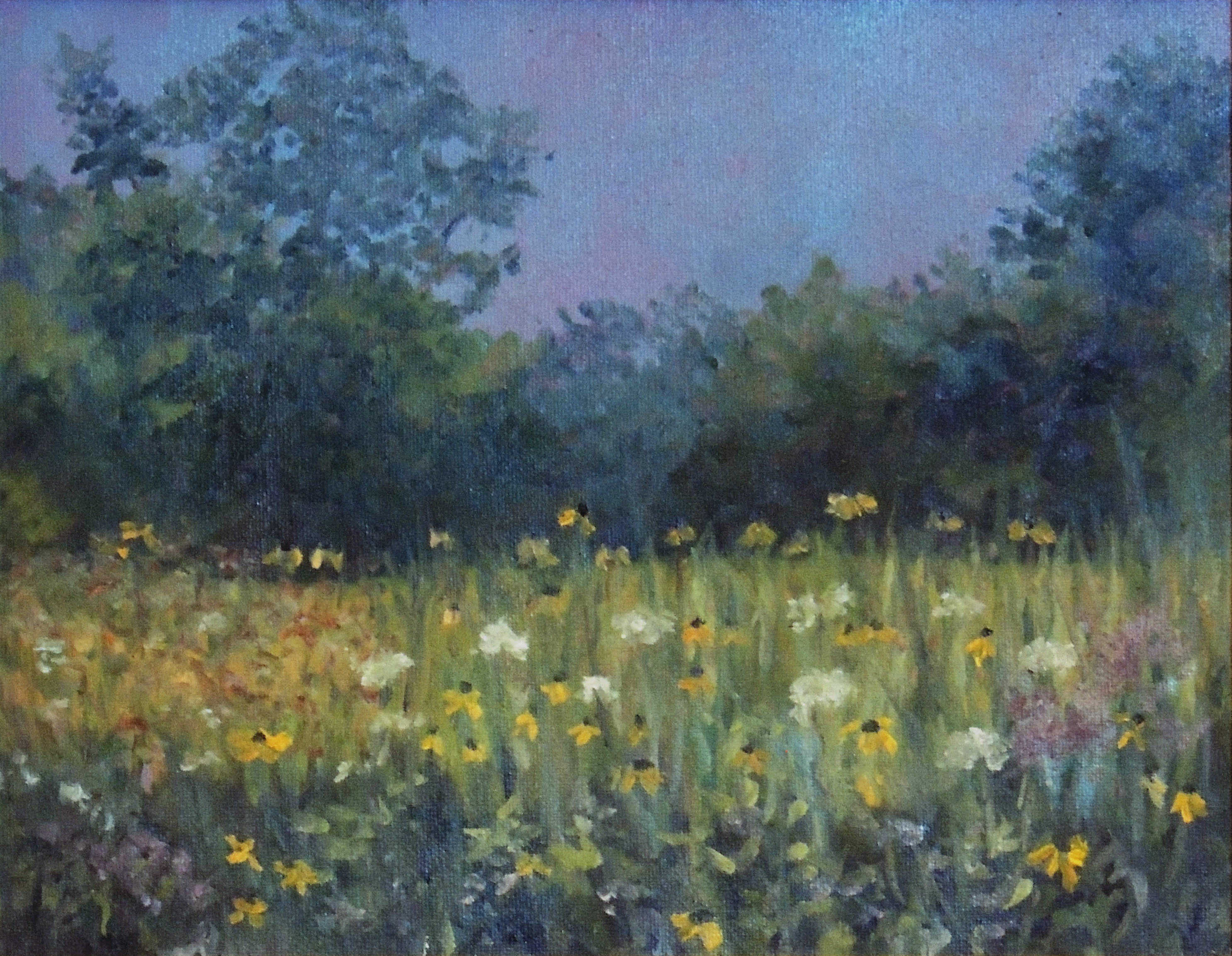 Kyna Paul | PRAIRIE AT BUCK CREEK STATE PARK | oil | frame size 13x16