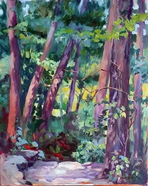 Linda Gredy | GLEN HELEN TRAIL | oil | frame size 26x22