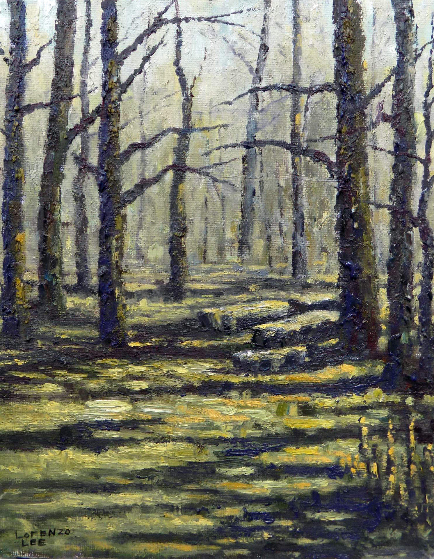 Lorenzo Schide | MARSH IN EARLY SPRING, CAESARS CREEK STATE PARK | oil | 10x8