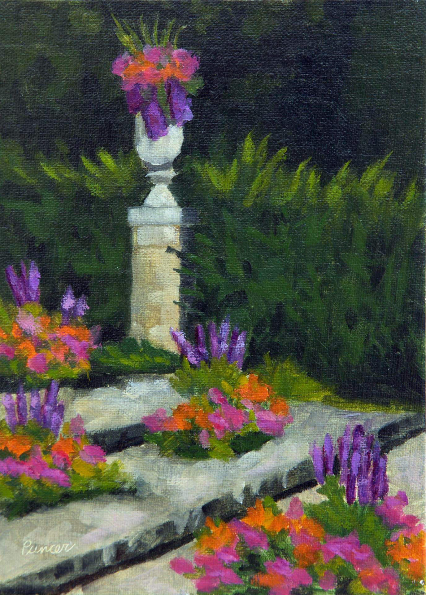 Loretta Puncer | WEGERZYN GARDEN URN | oil on linen panel | 7x5