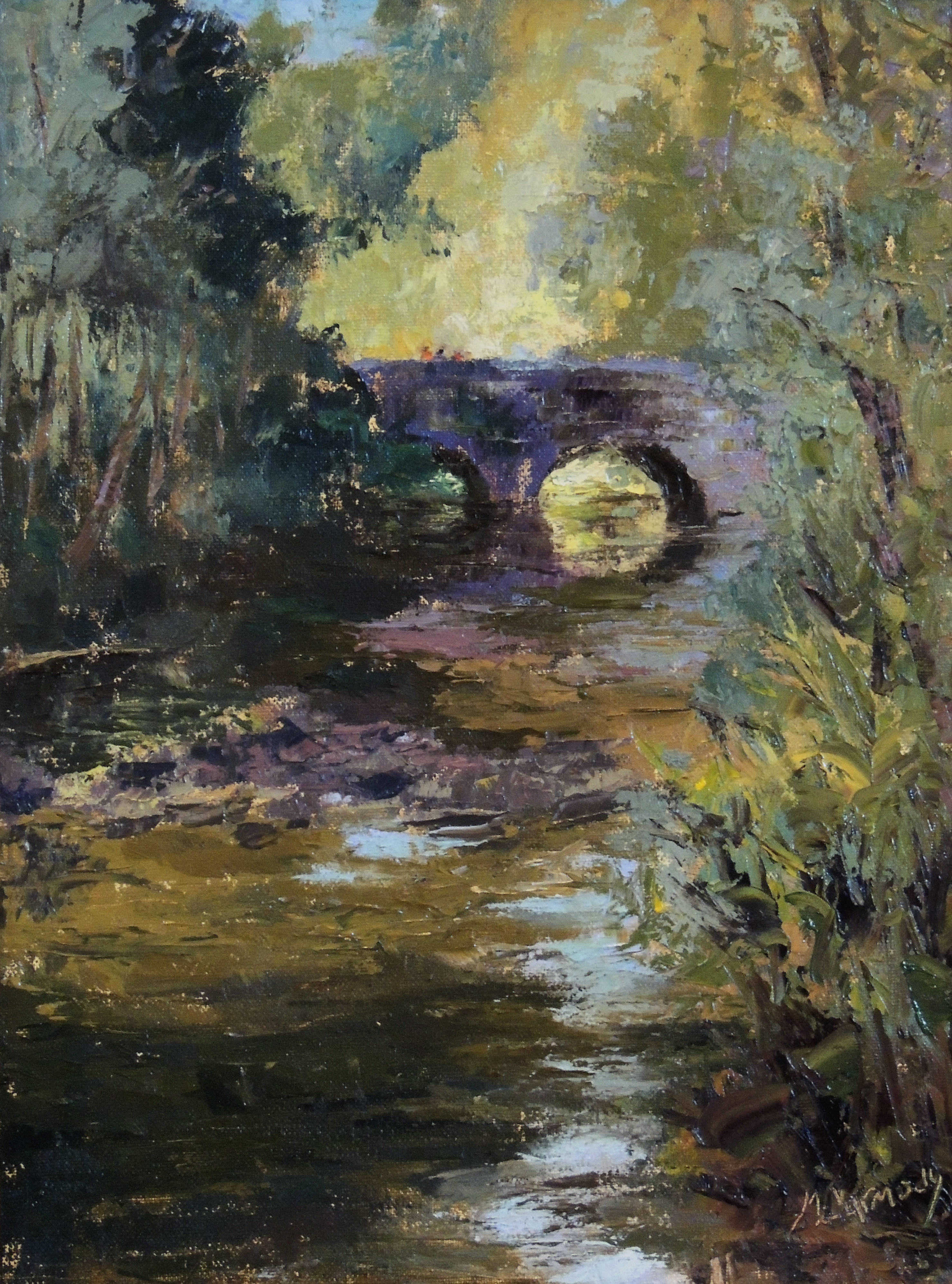 Martha Carmody | PARK BRIDGE IN SHARON WOODS | oil | frame size 24x20