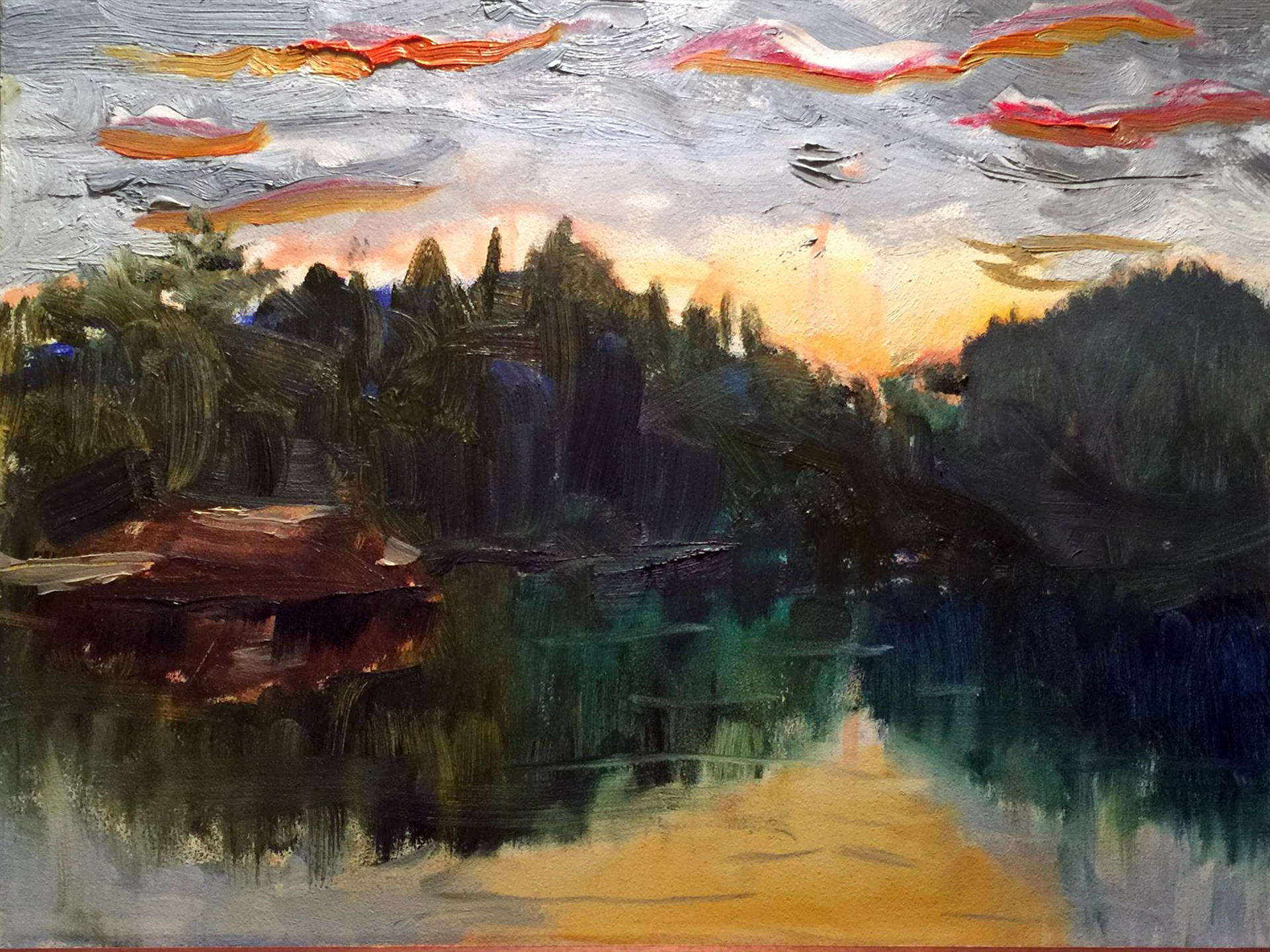 Maureen Bodin | ADIRONDACK END OF DAY | oil | frame size 10x12