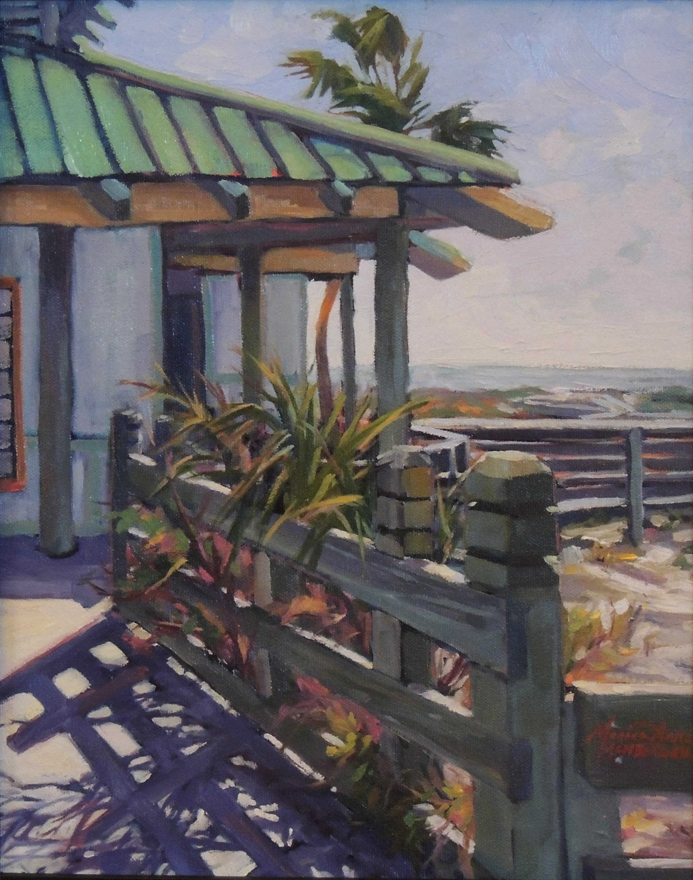 Monica Anne Achberger | BEACHSIDE SHADOWS | oil | frame size 17x20
