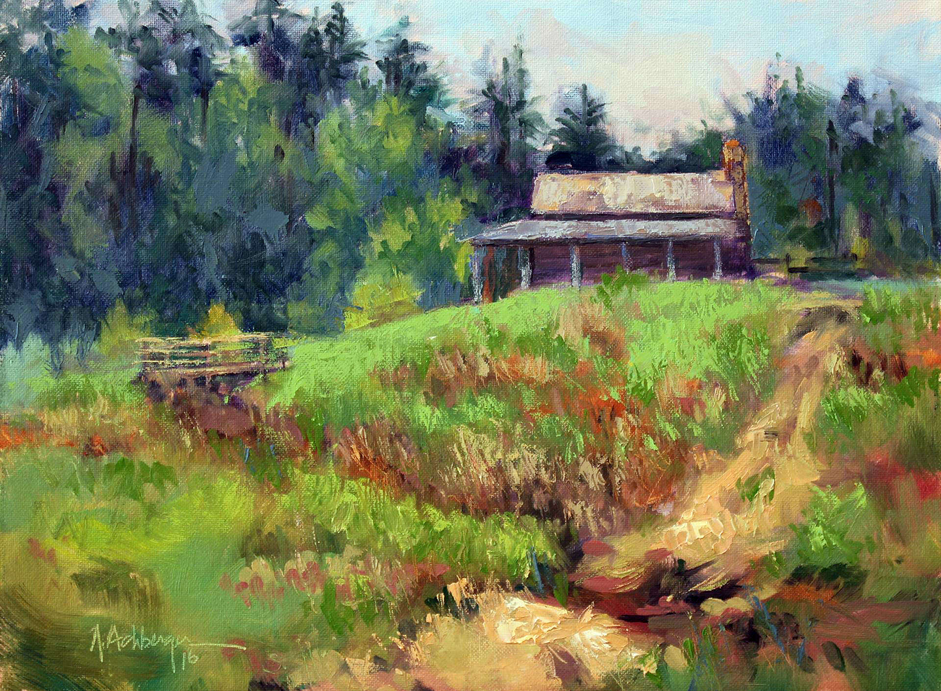 Nancy Achberger | PIONEER SPRING | oil | frame size 15x18