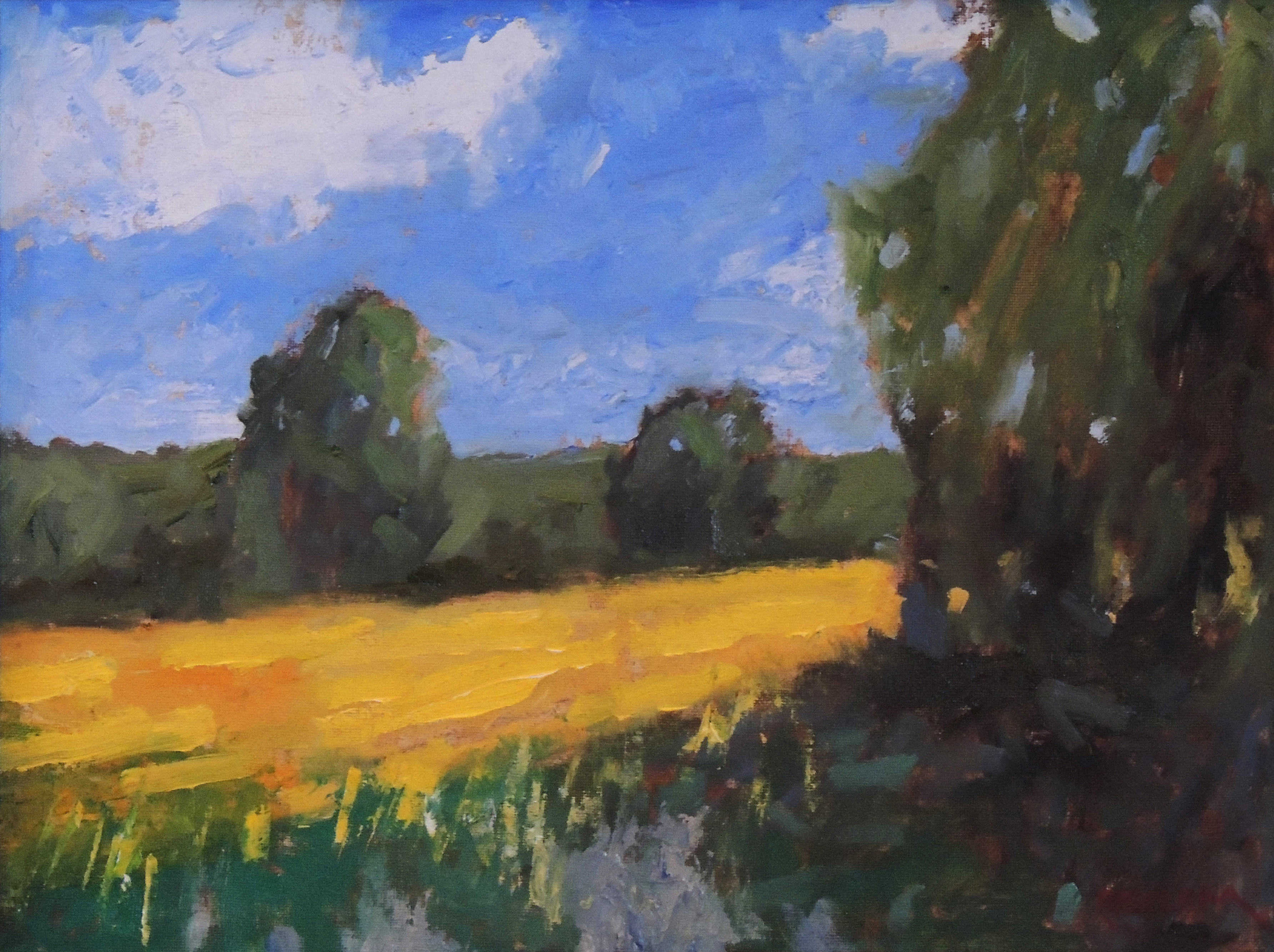Richard Clem | RETURN TO MUSTARD FIELD ROCKY FORK PARK | oil
