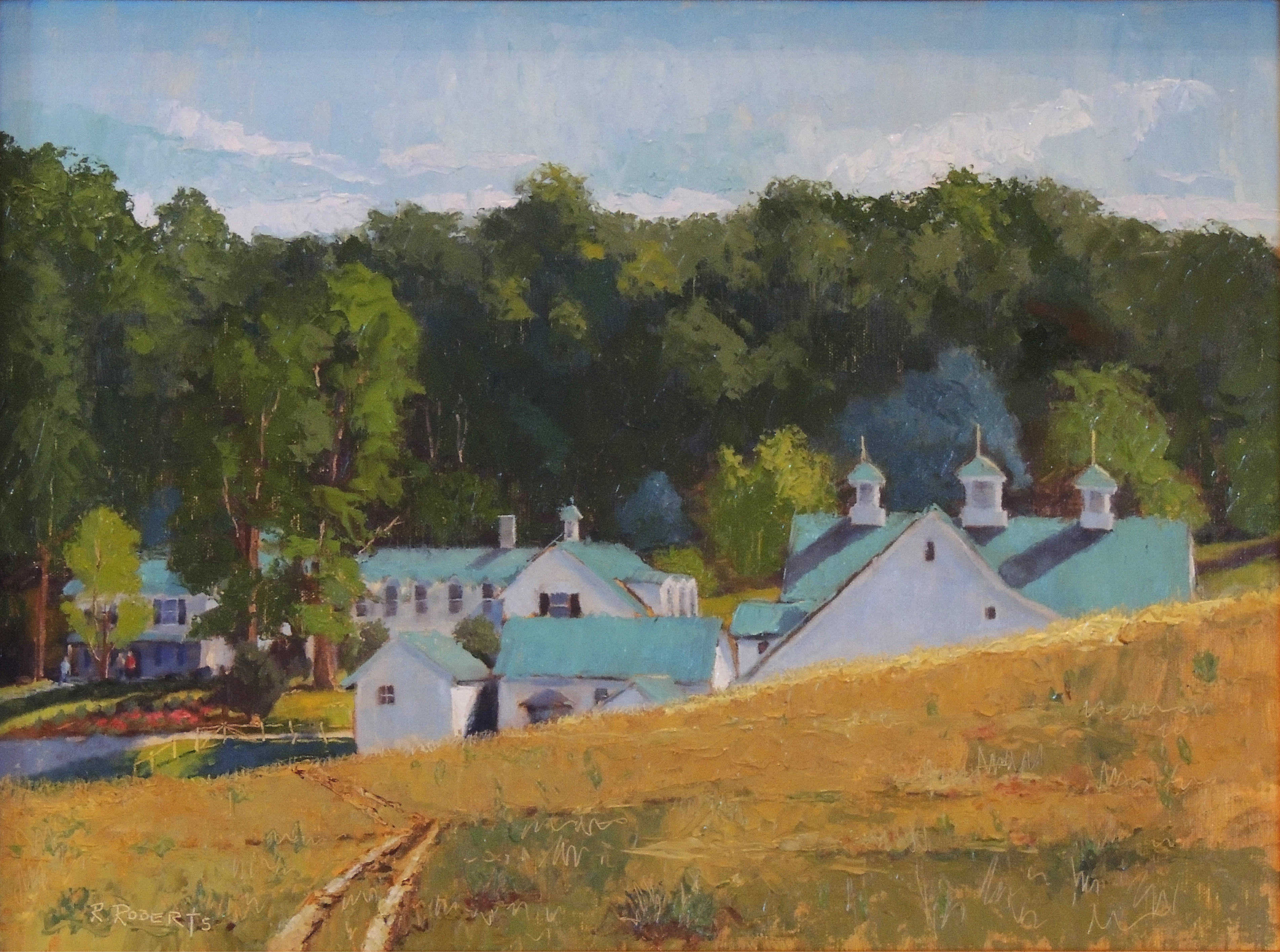 Robin Roberts | AN EVENING AT MALABAR FARM | oil | frame size 16x20