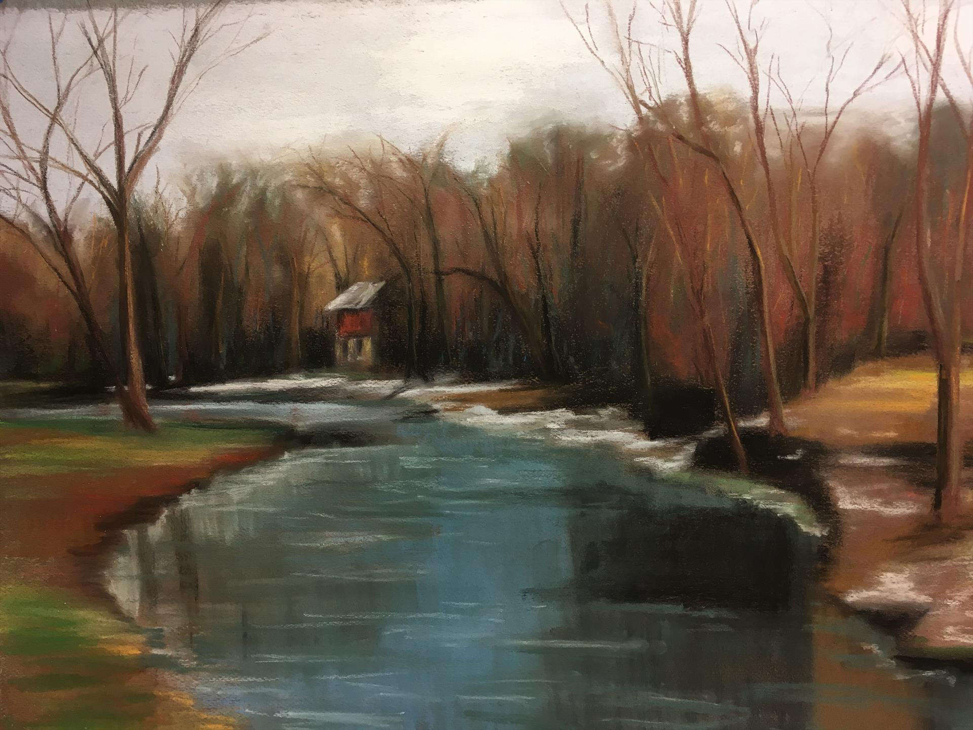 Robine Wright | JANUARY AT SNYDER PARK | oil | 16x20