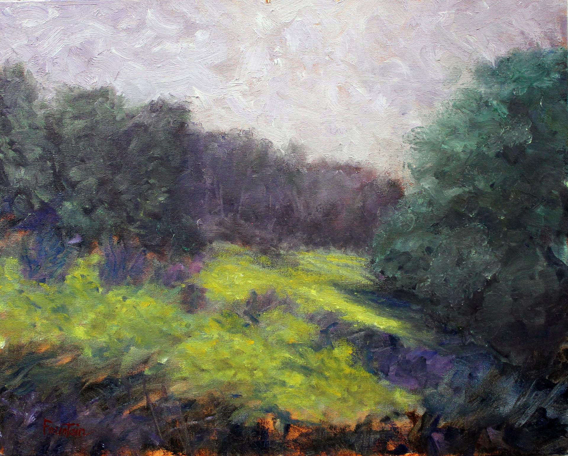 Steve Fountain | WETMORE TRAILHEAD, CUYAHOGA VALLEY NATIONAL PARK | oil | frame size 22x26
