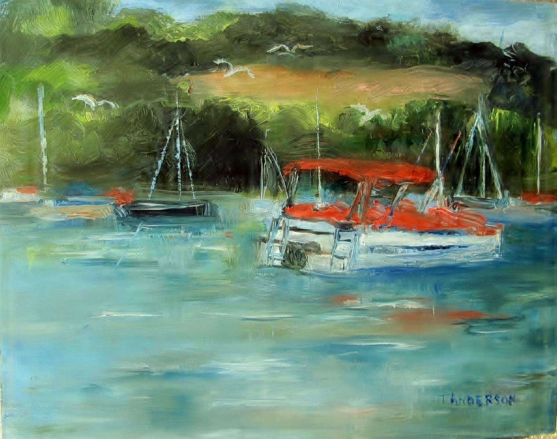 Terri Anderson | MARINA AT BUCK CREEK STATE PARK | oil | frame size 10x12