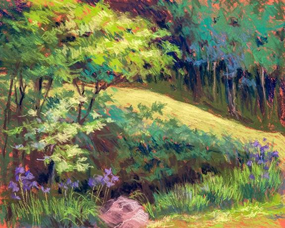 Vivian Ripley | EASTON FAMILY PARK | soft pastel | frame size 19x22