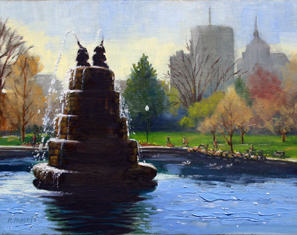 Robin Roberts | GOODALE PARK | oil | 9x12