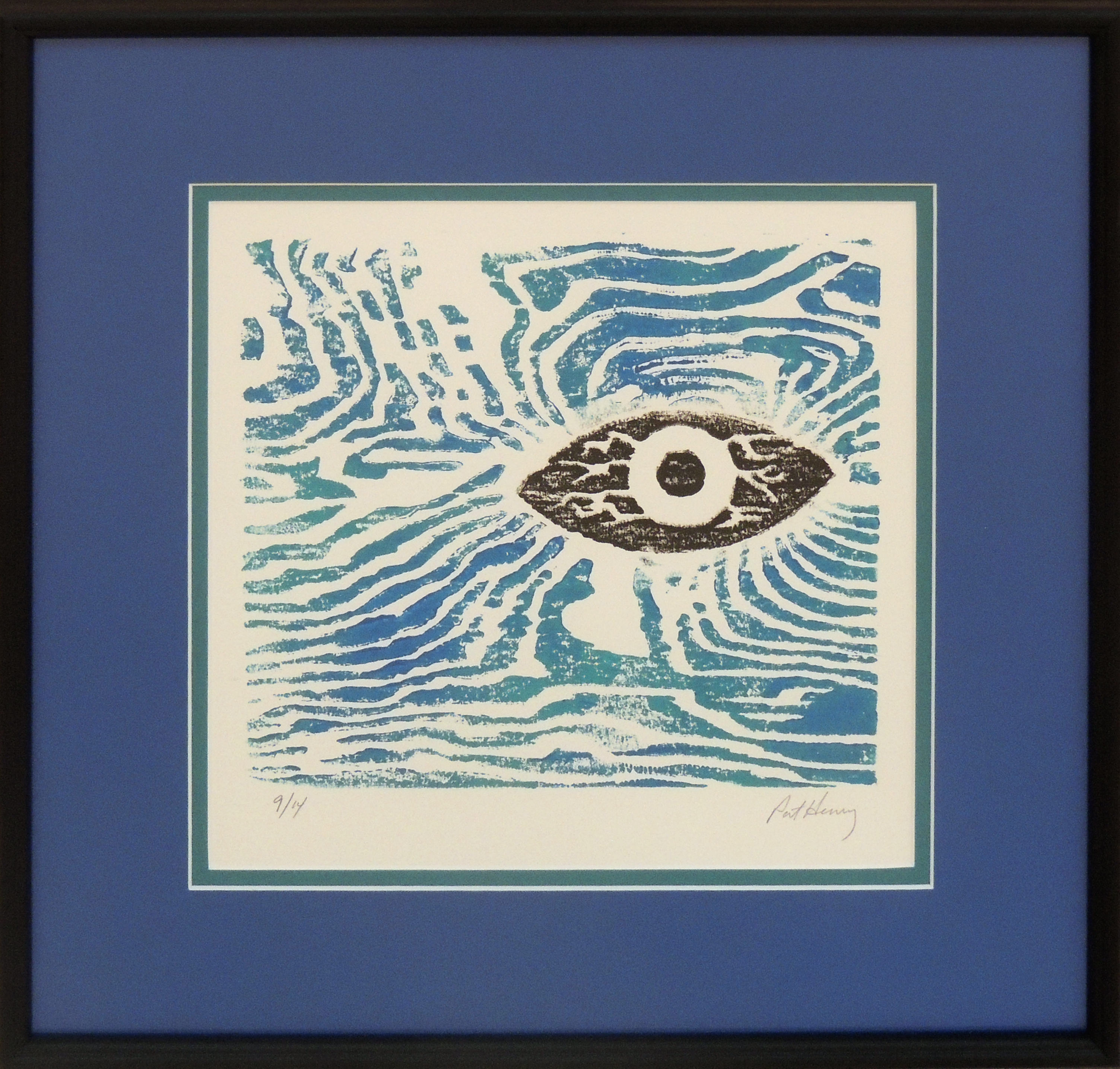 Pat Henry | EYE IN THE SKY | Woodcut