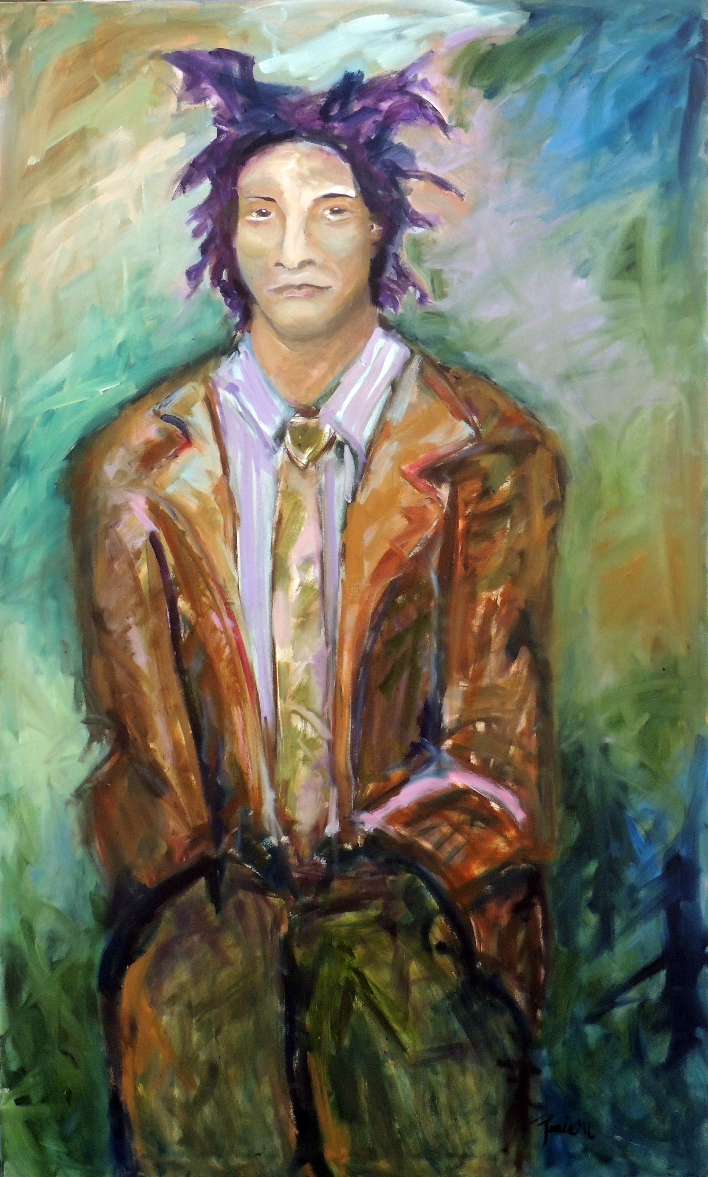 Paula Womacks | PORTRAIT OF AN ARTIST | Oil on Canvas
