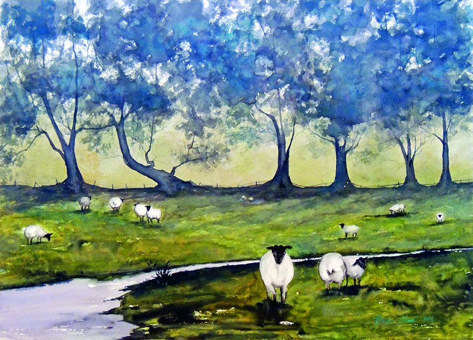 Rhonda Sloan | BAAAH | watercolor | 22 x 30""