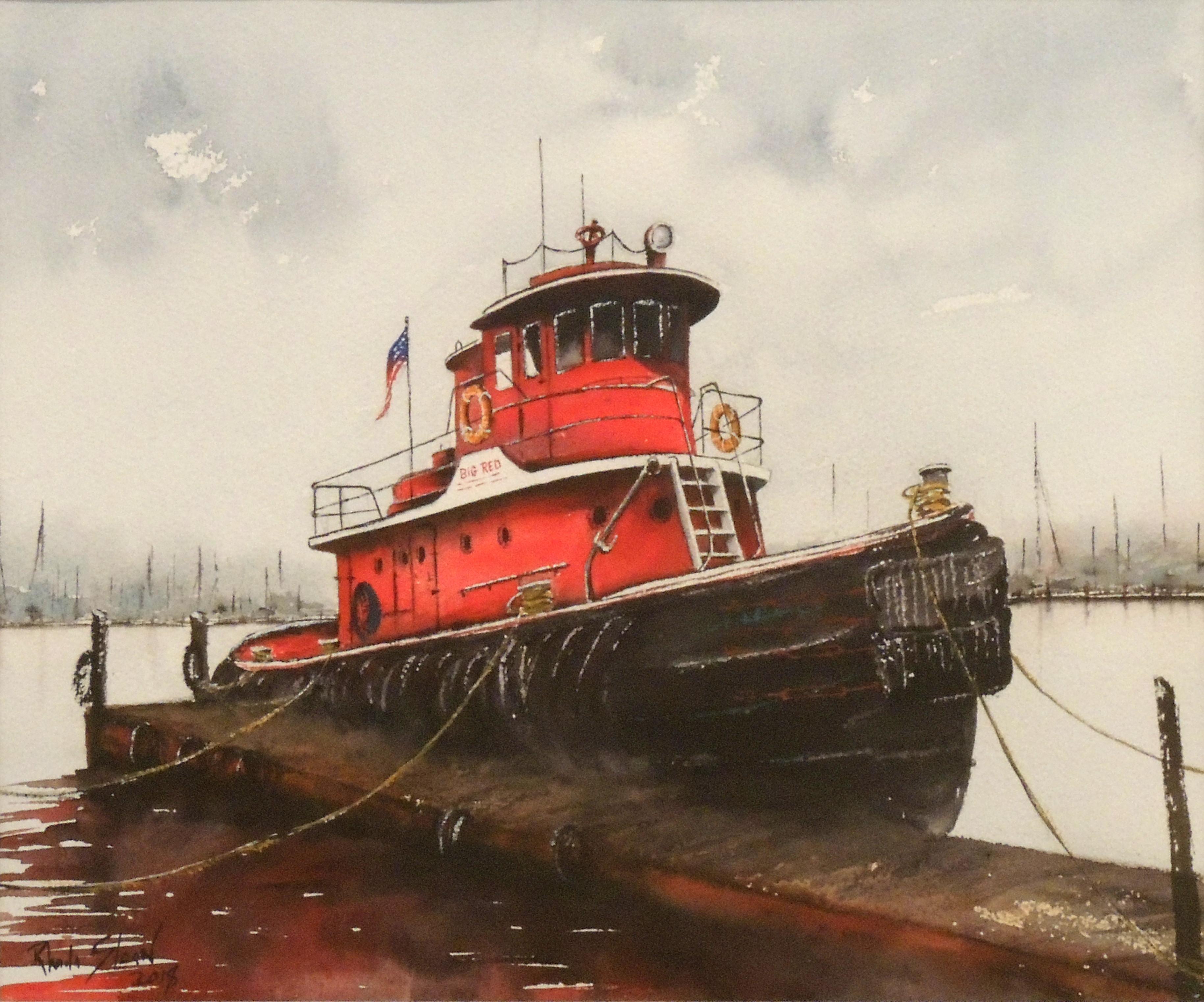 Rhonda Sloan | BIG RED | Watercolor
