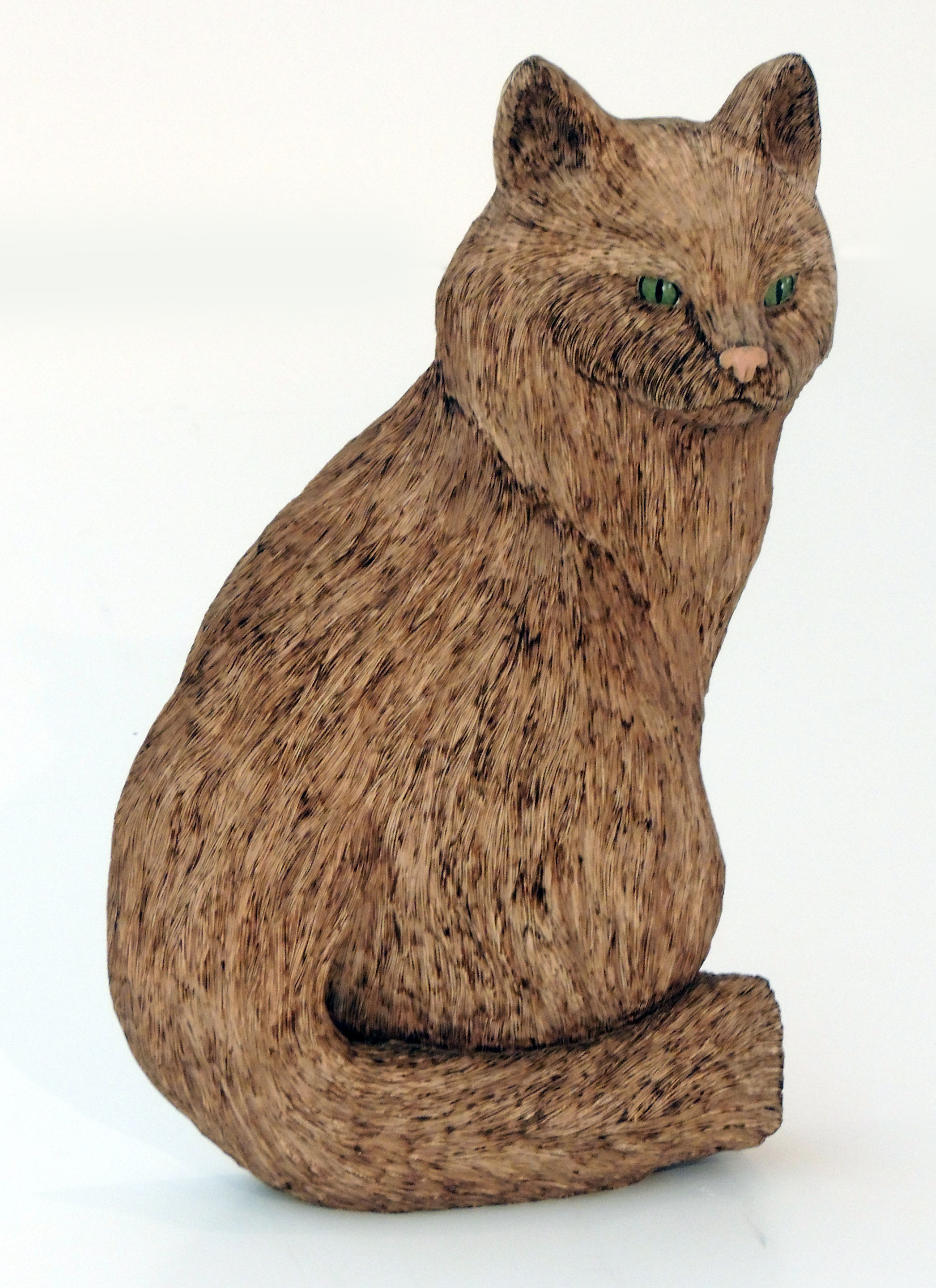 Rob Liptak | LE CHAT | Carved Basswood/Acrylic